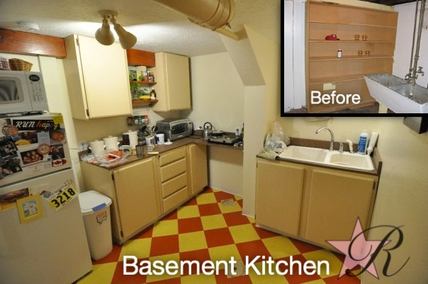 This kitchenette helped transform this basement into an apartment.