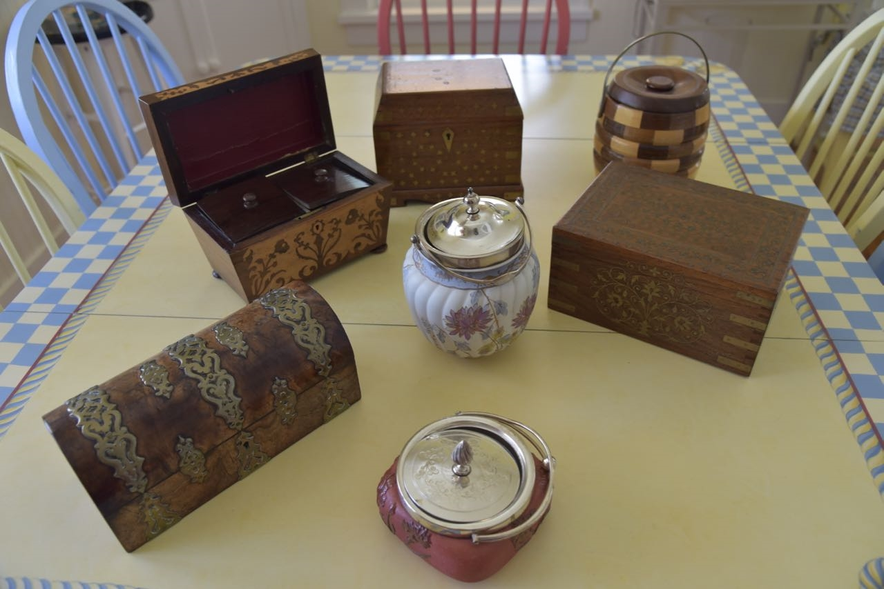Tea Caddies and Biscuit Barrels - that's not arsenic in the sugar, is it? (See article below from Chautauquan Daily reporter Morgan Kinney)