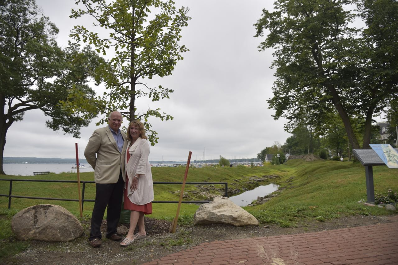 Tom and Jane Becker at in front of the Bur Oak