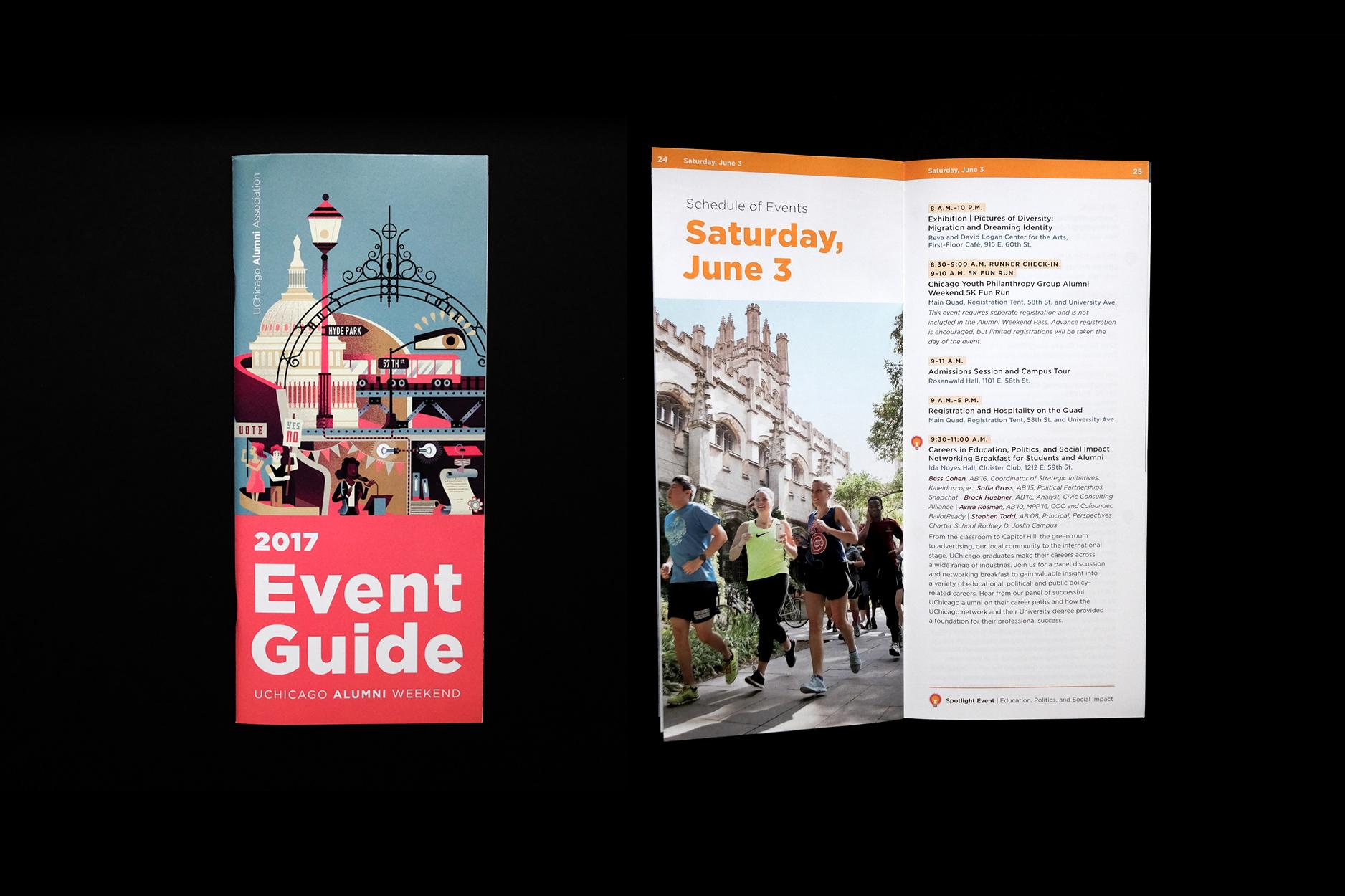 Brochure cover and interior spread.