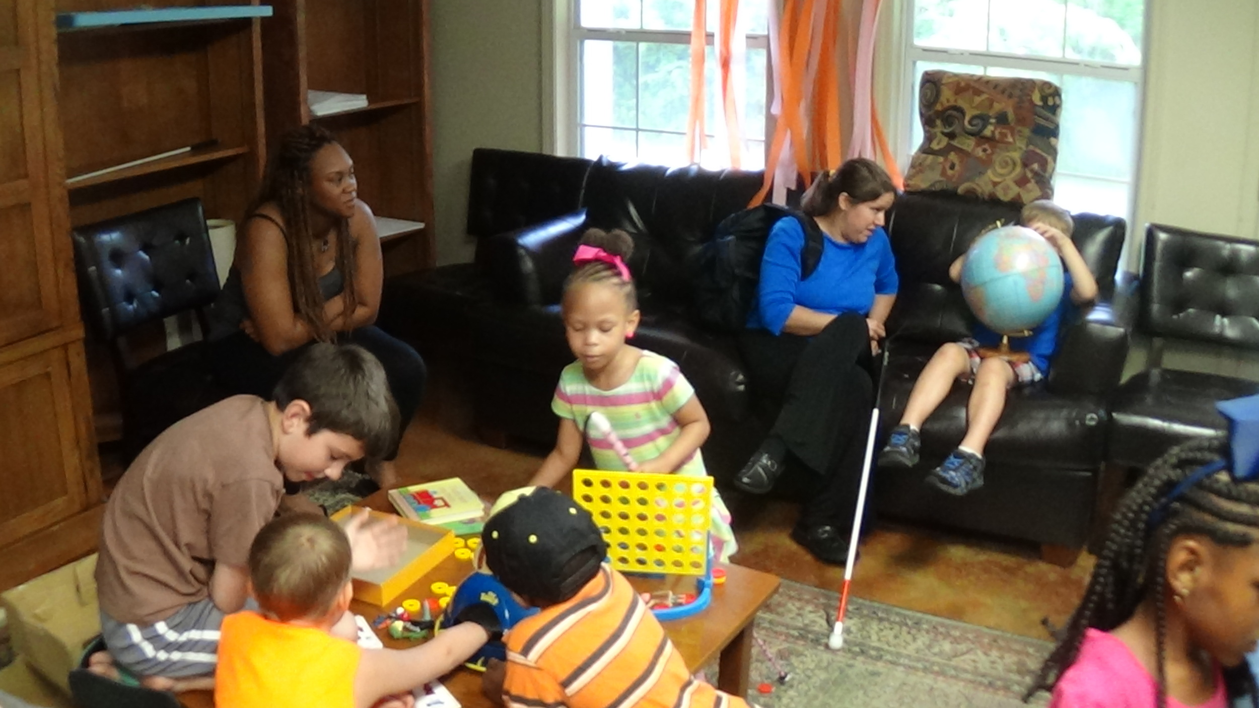 Students enjoy games and family time on the frist day of NFB BELL Camp