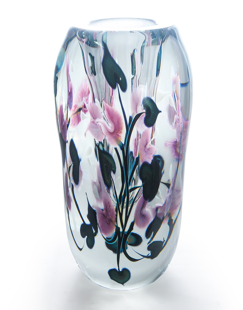 Lotton Lavender Bleeding Heart Cluster Vase 1 shadow.jpg