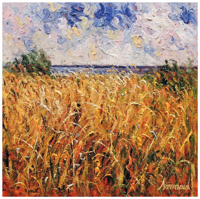 Wheat Field, Window on the Mediterranean Sea