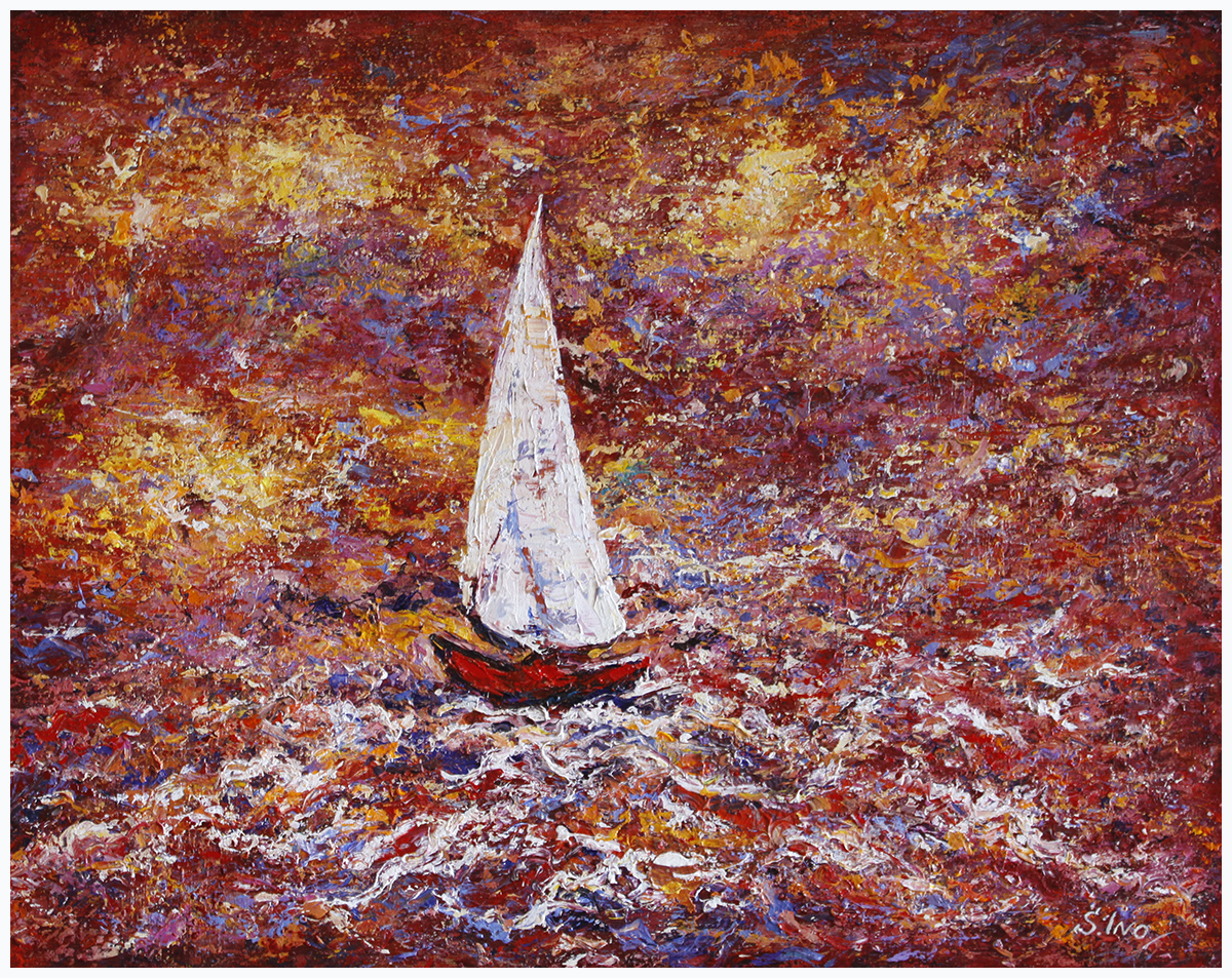 High Seas (Red on White)