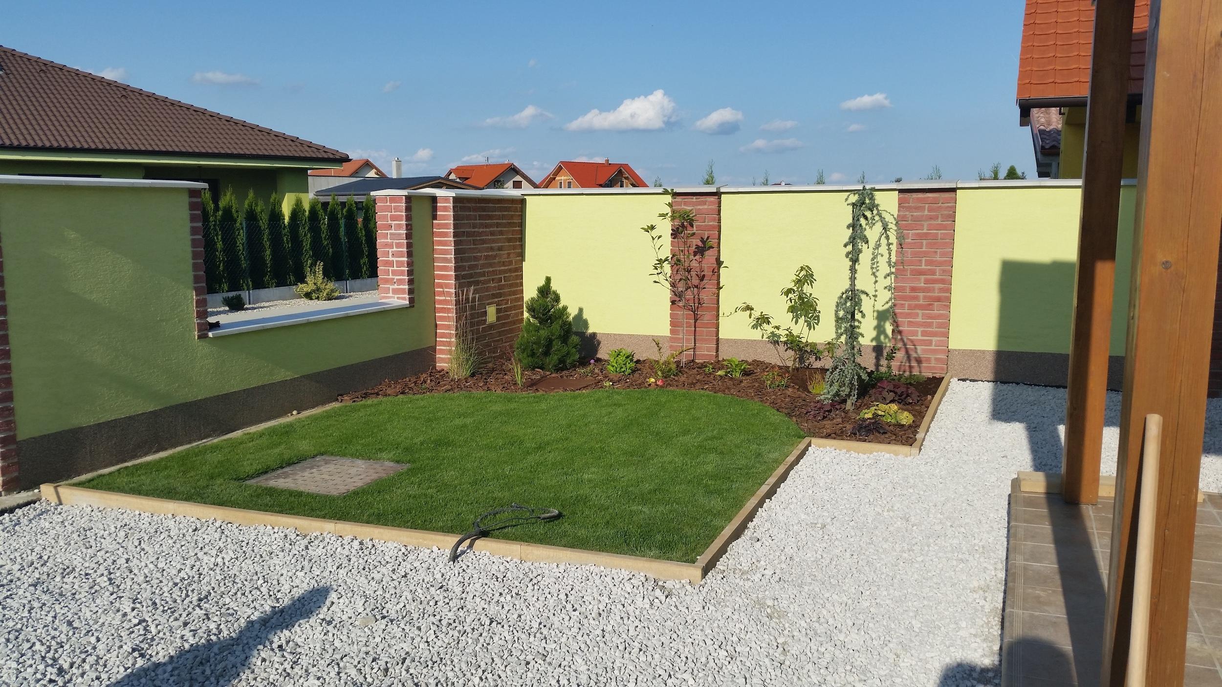 Zálesie   Realizácia záhrady 2013 - 2014
