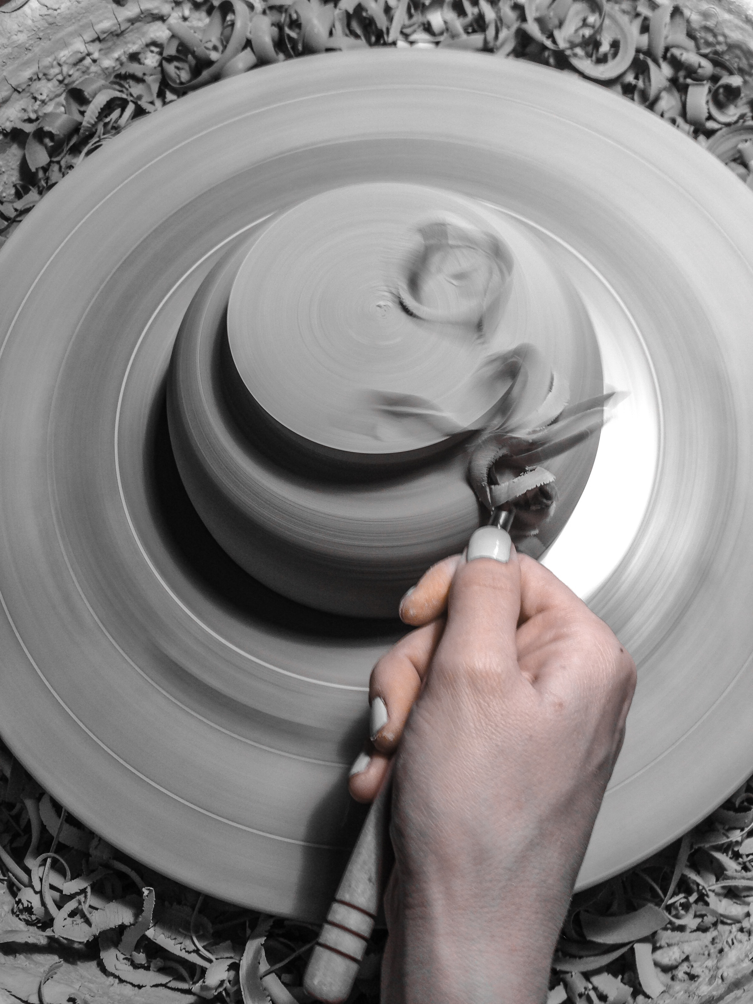 Trimming a Porcelain Bowl