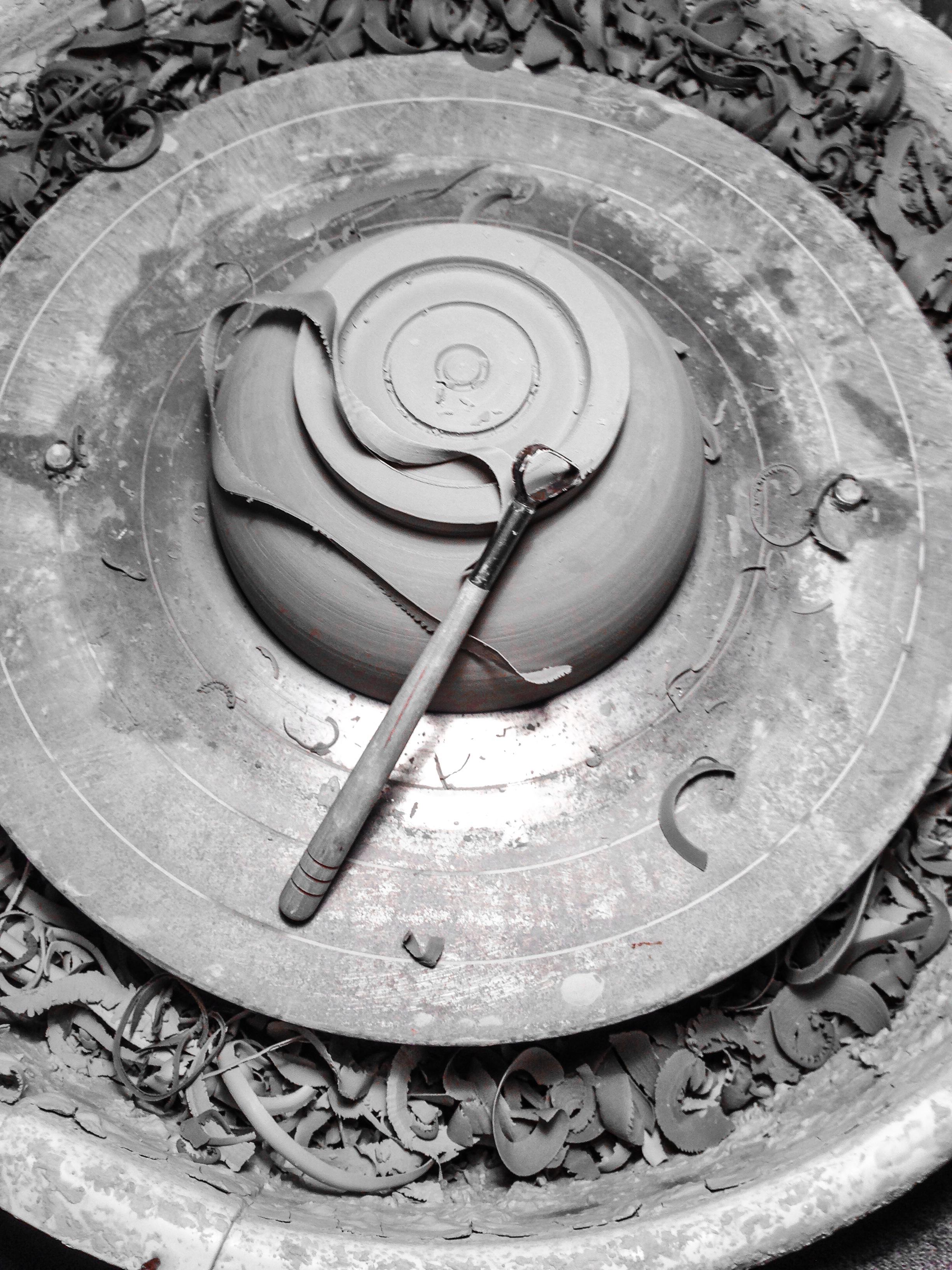Trimming a Porcelain Bowl