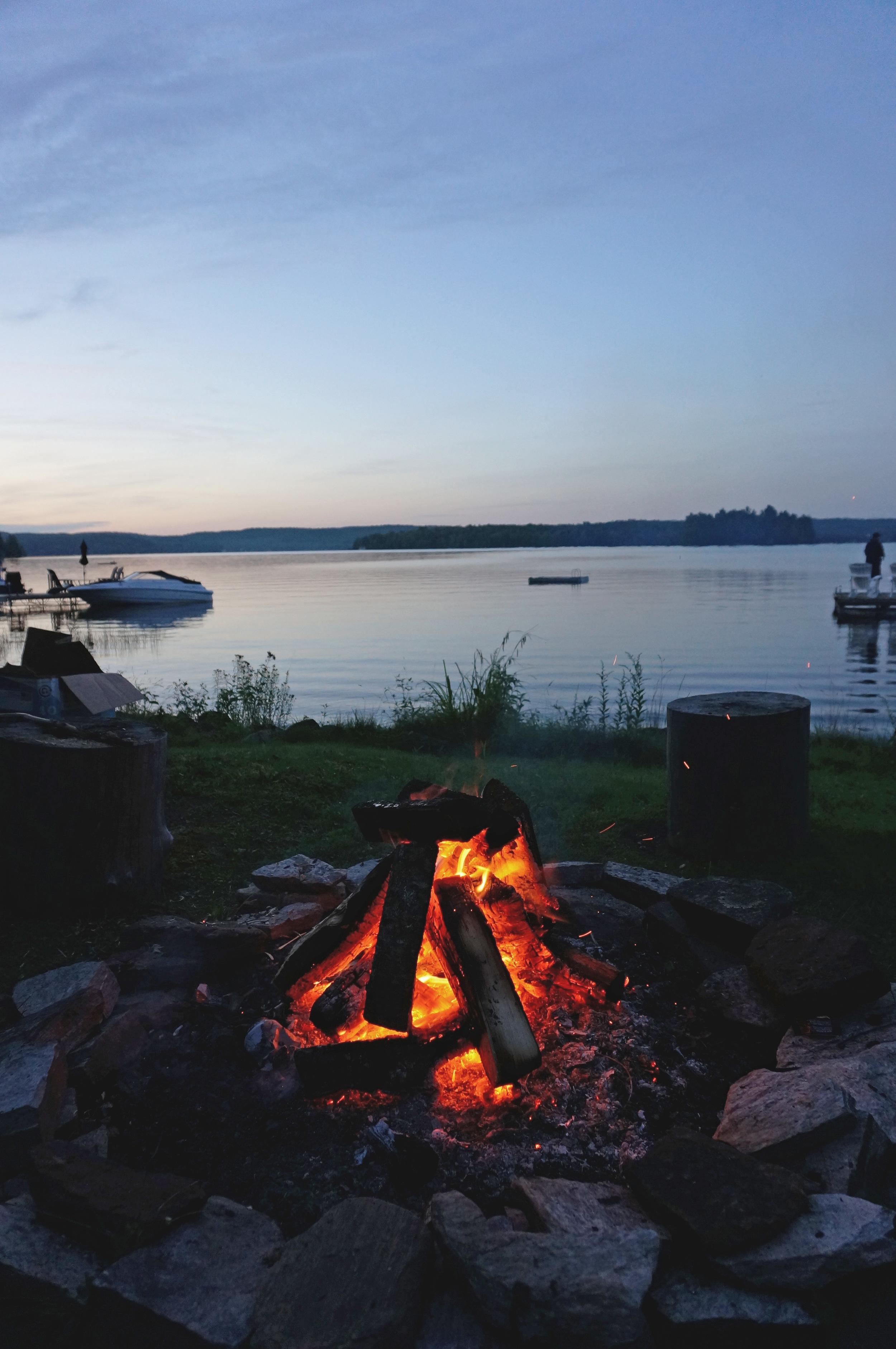 Campire near the lake