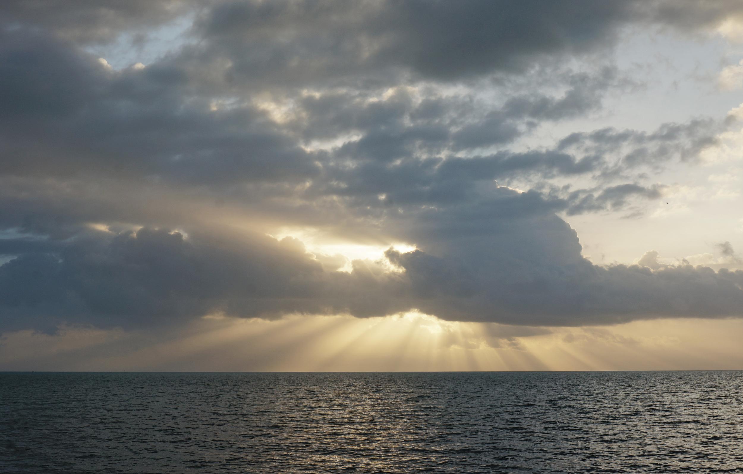 Sunrise over atlantic from Key Largo