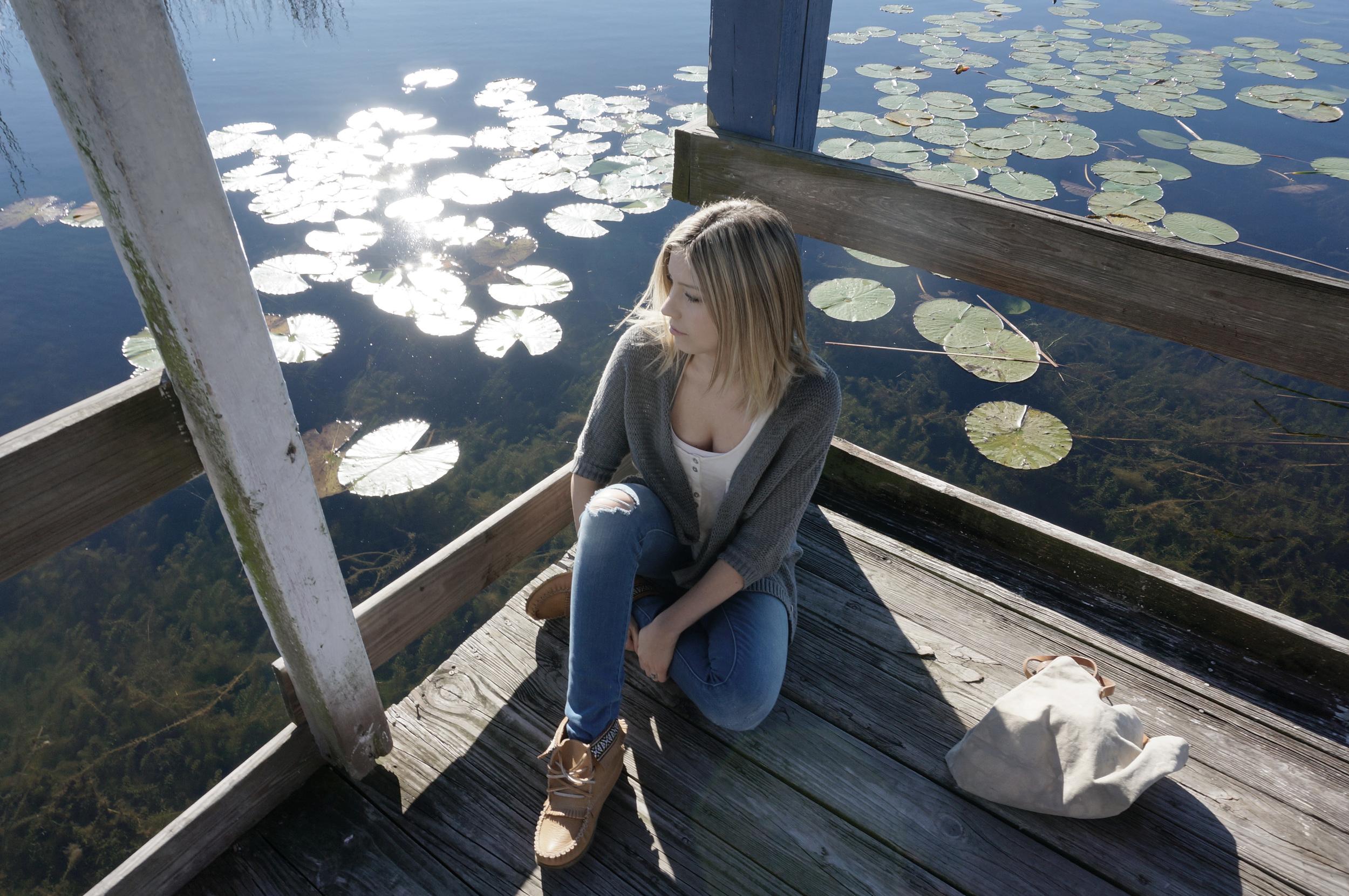Pond reflection photo