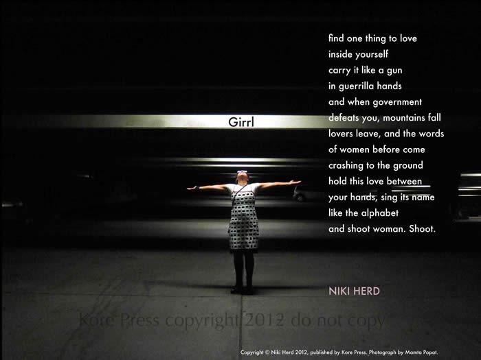 Girrl by Niki Herd (a Broadside by Kore Press)