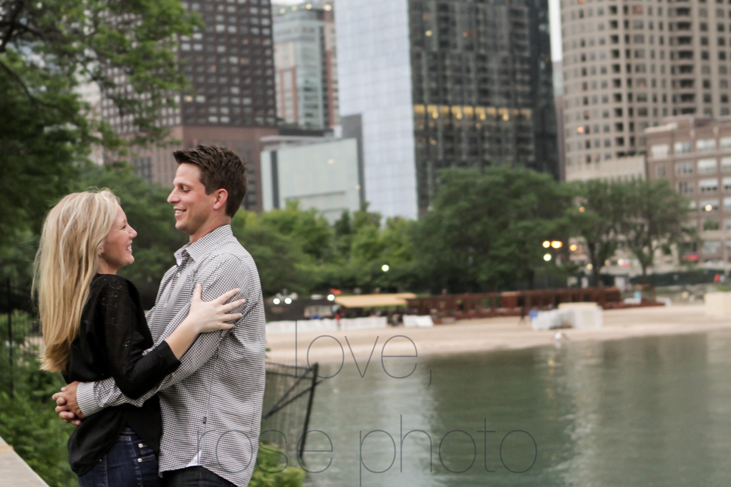 chicago yacht club lake front engagement shoot olive park chicago theater wedding photographer rose photo-007.jpg