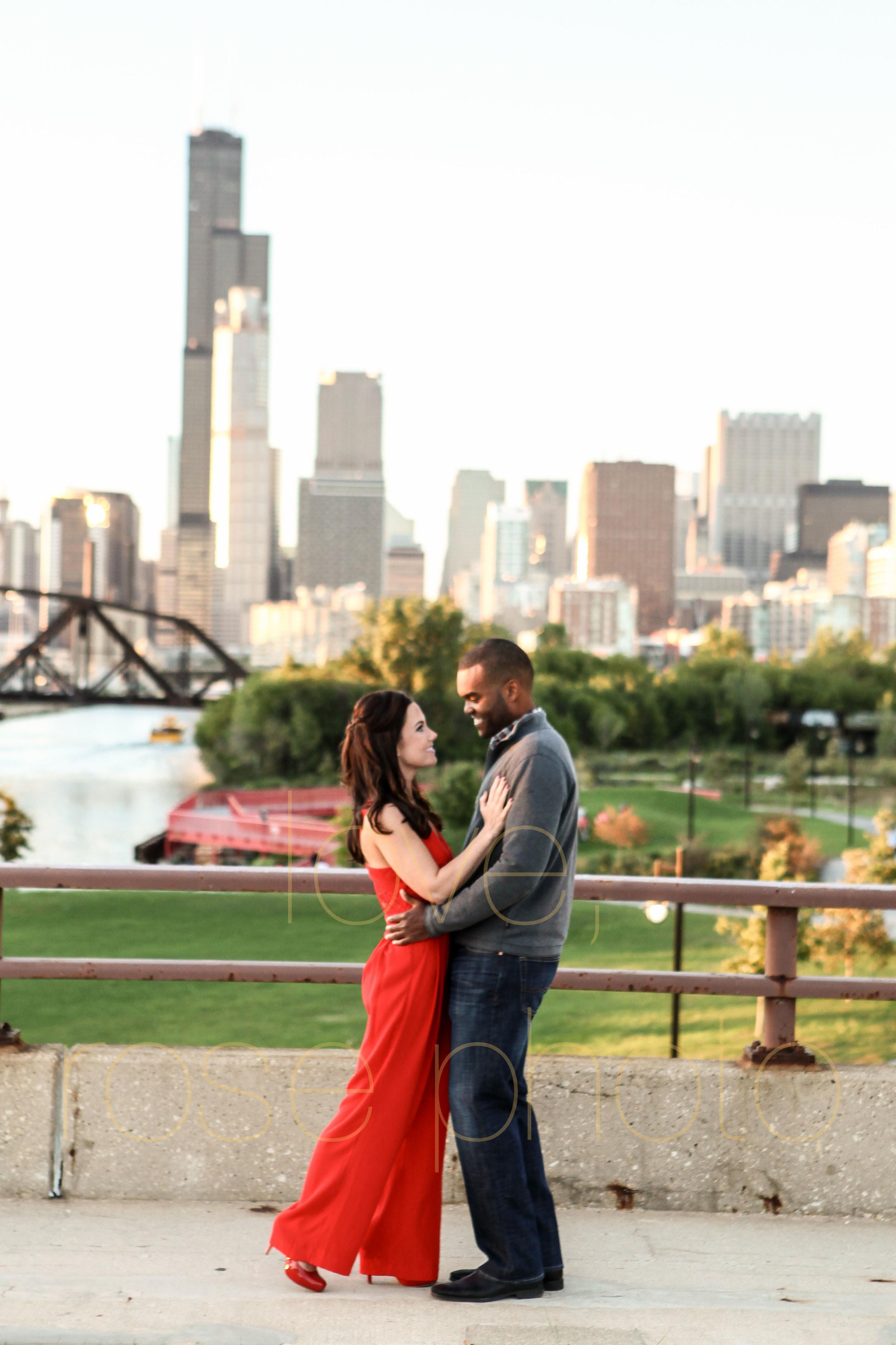 Sarah + Dimitri enagement shoot south loop 18th street bridge Chicago love has no boundries biracial couple loverosephoto -013.jpg