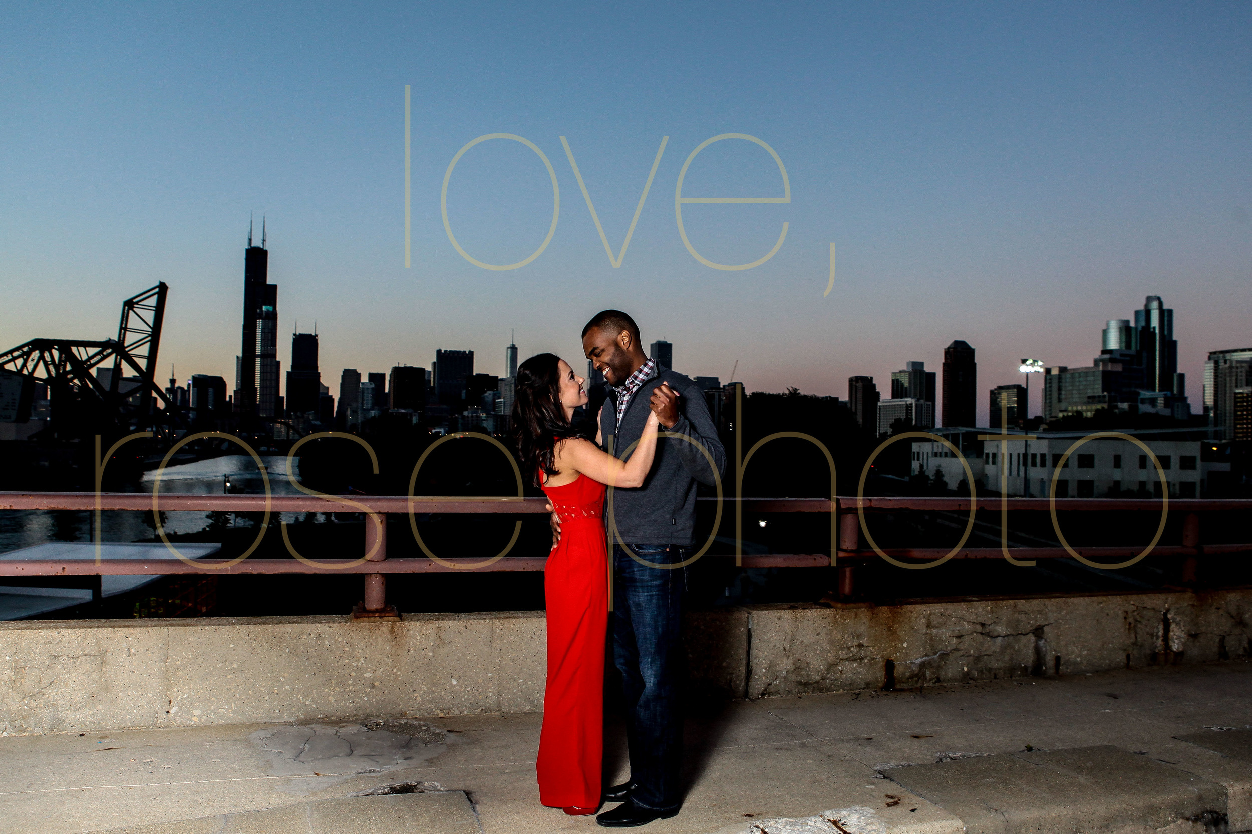 Sarah + Dimitri enagement shoot south loop 18th street bridge Chicago love has no boundries biracial couple loverosephoto -015.jpg