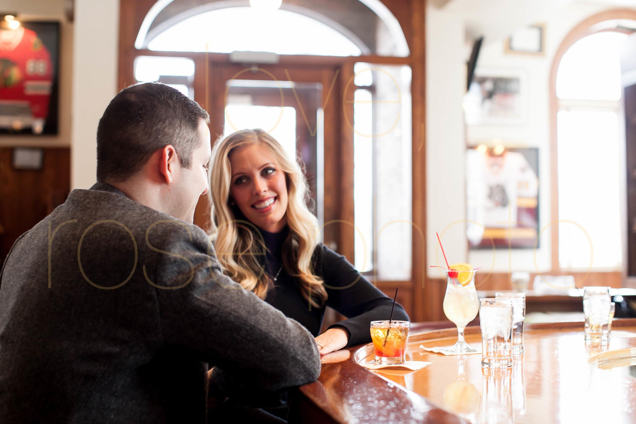 Meredith + Ross NYE 2016 Green Door Tavern River  North Erie Cafe Rose Photo Custom Enagement Shoot Chicago Wedding Photographer -4.jpg