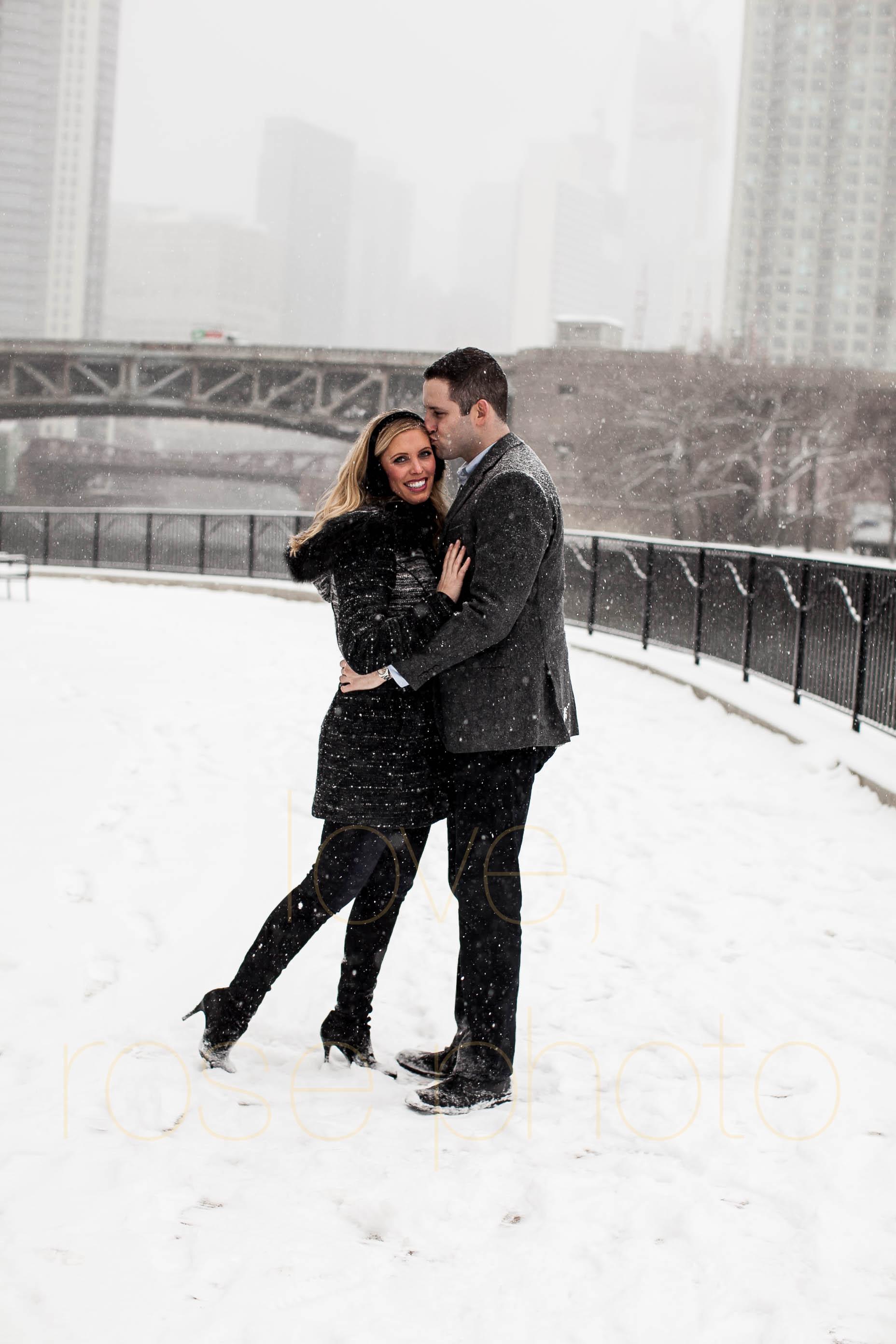 Meredith + Ross NYE 2016 Green Door Tavern River  North Erie Cafe Rose Photo Custom Enagement Shoot Chicago Wedding Photographer -5.jpg