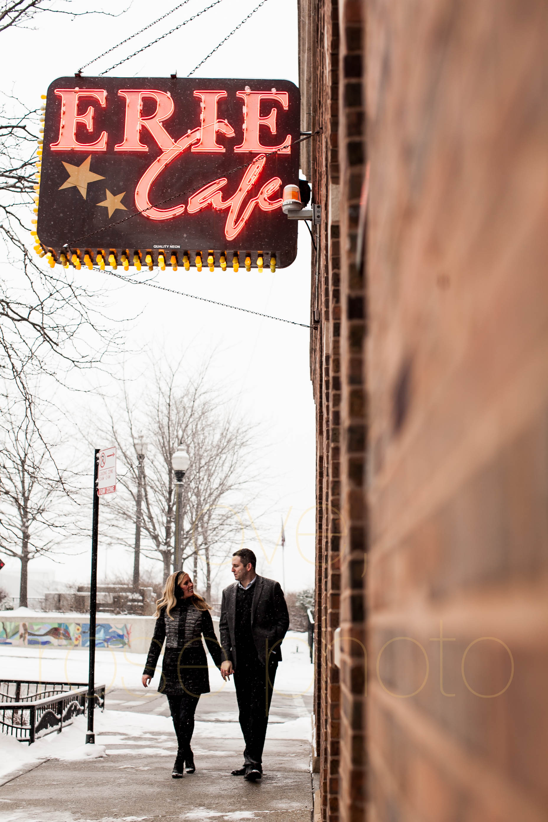 Meredith + Ross NYE 2016 Green Door Tavern River  North Erie Cafe Rose Photo Custom Enagement Shoot Chicago Wedding Photographer -11.jpg