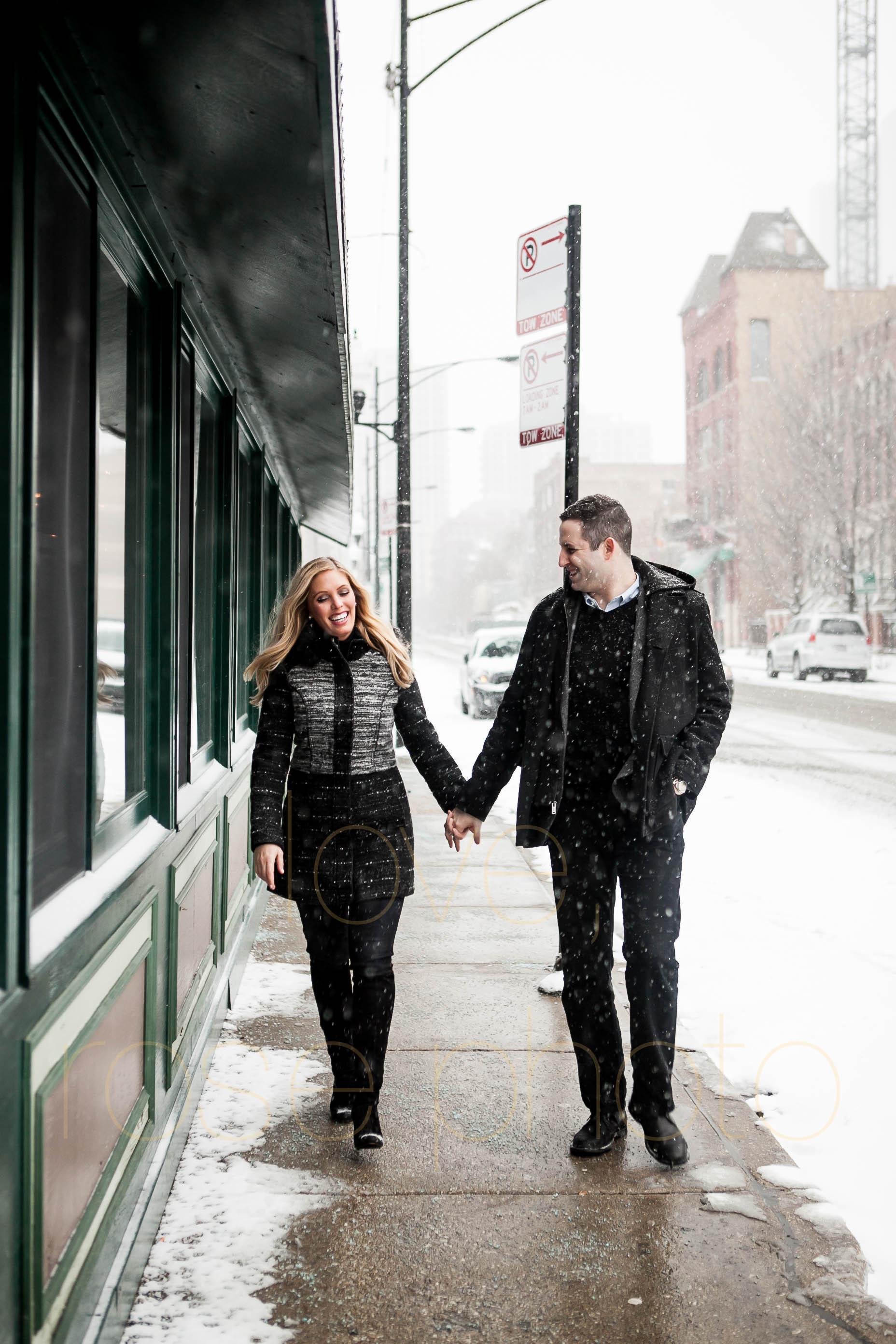 Meredith + Ross NYE 2016 Green Door Tavern River  North Erie Cafe Rose Photo Custom Enagement Shoot Chicago Wedding Photographer -13.jpg