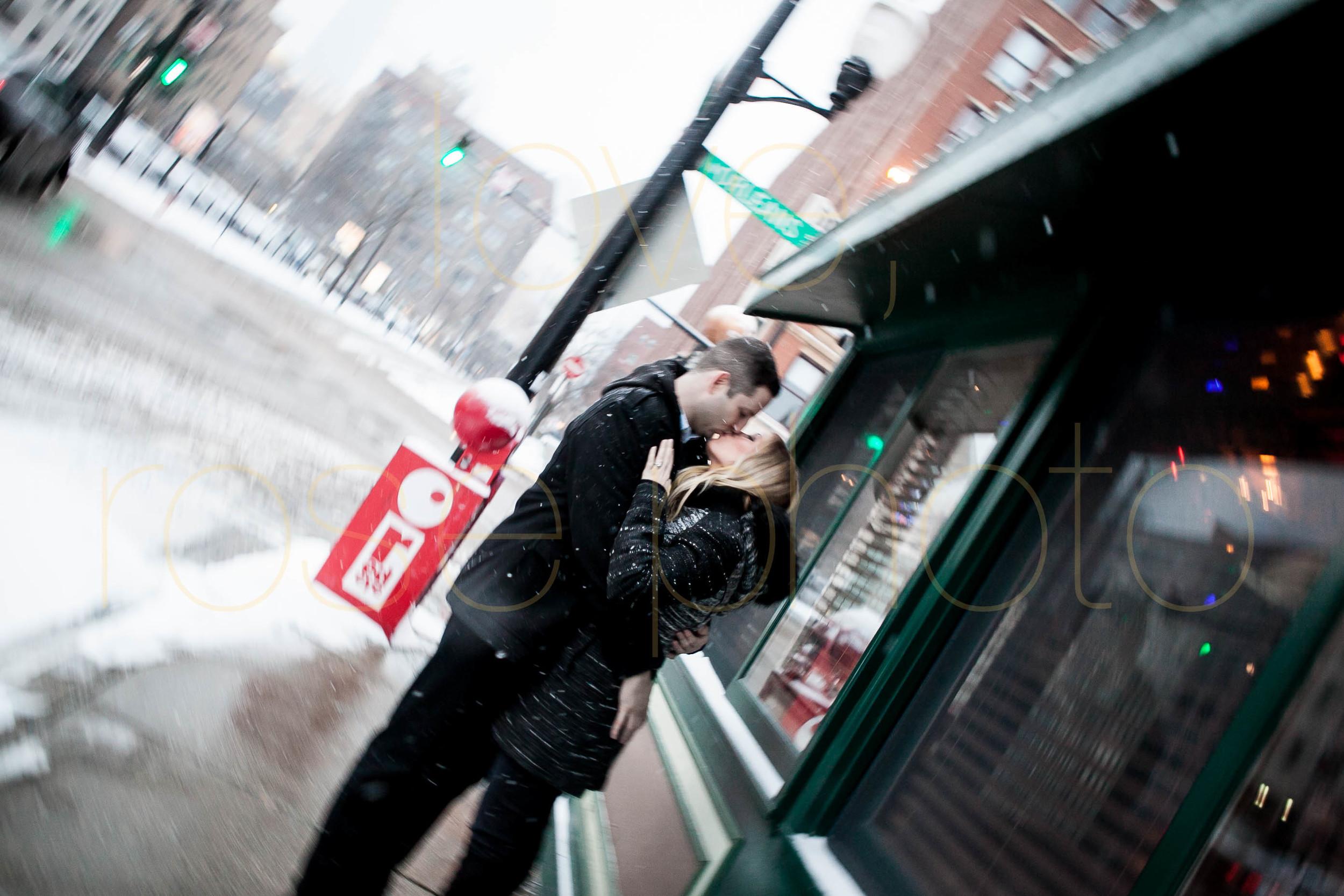 Meredith + Ross NYE 2016 Green Door Tavern River  North Erie Cafe Rose Photo Custom Enagement Shoot Chicago Wedding Photographer -15.jpg