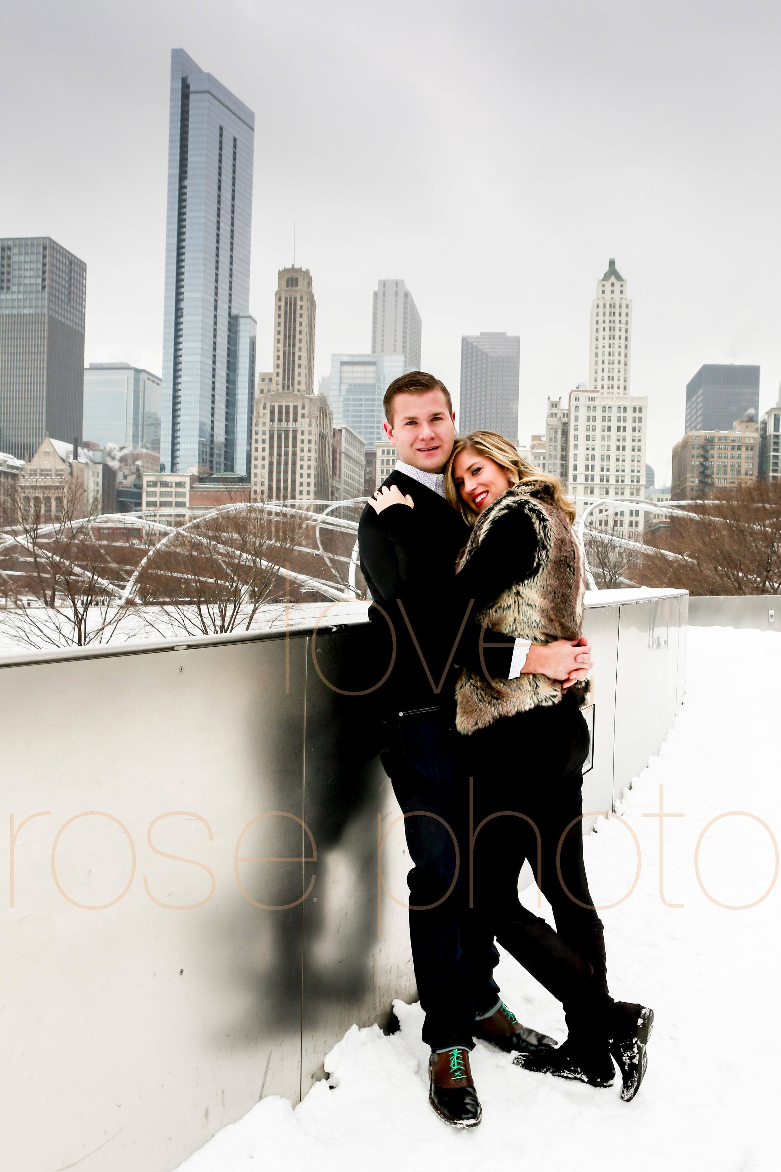 Rose Photo custom engagment shoot downtown chicago best wedding photographer-6.jpg
