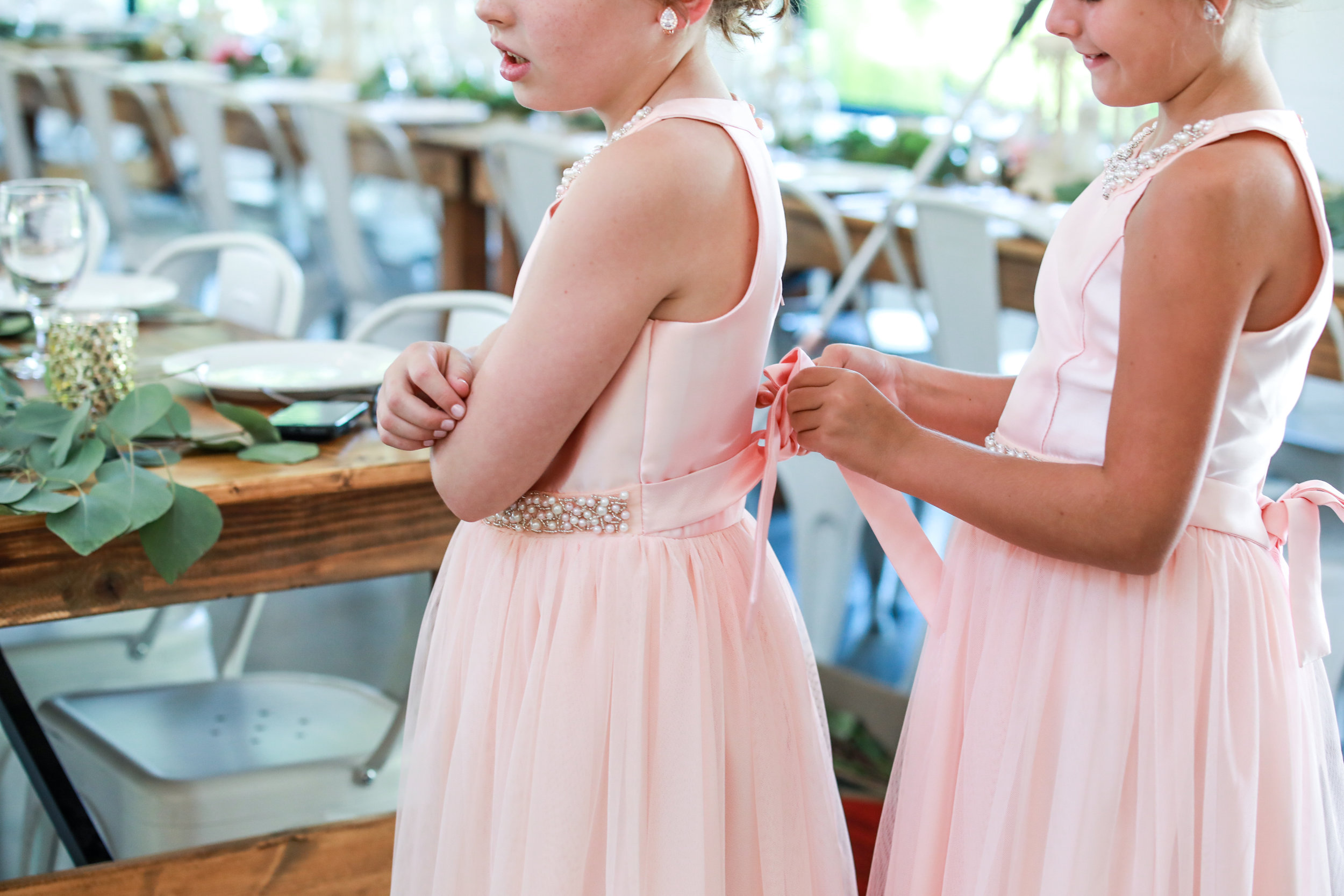 E + J Bloomington at The Wilds wedding photography pink roses blush baby blue bridesmaids dress flower girl destination photo -24.jpg