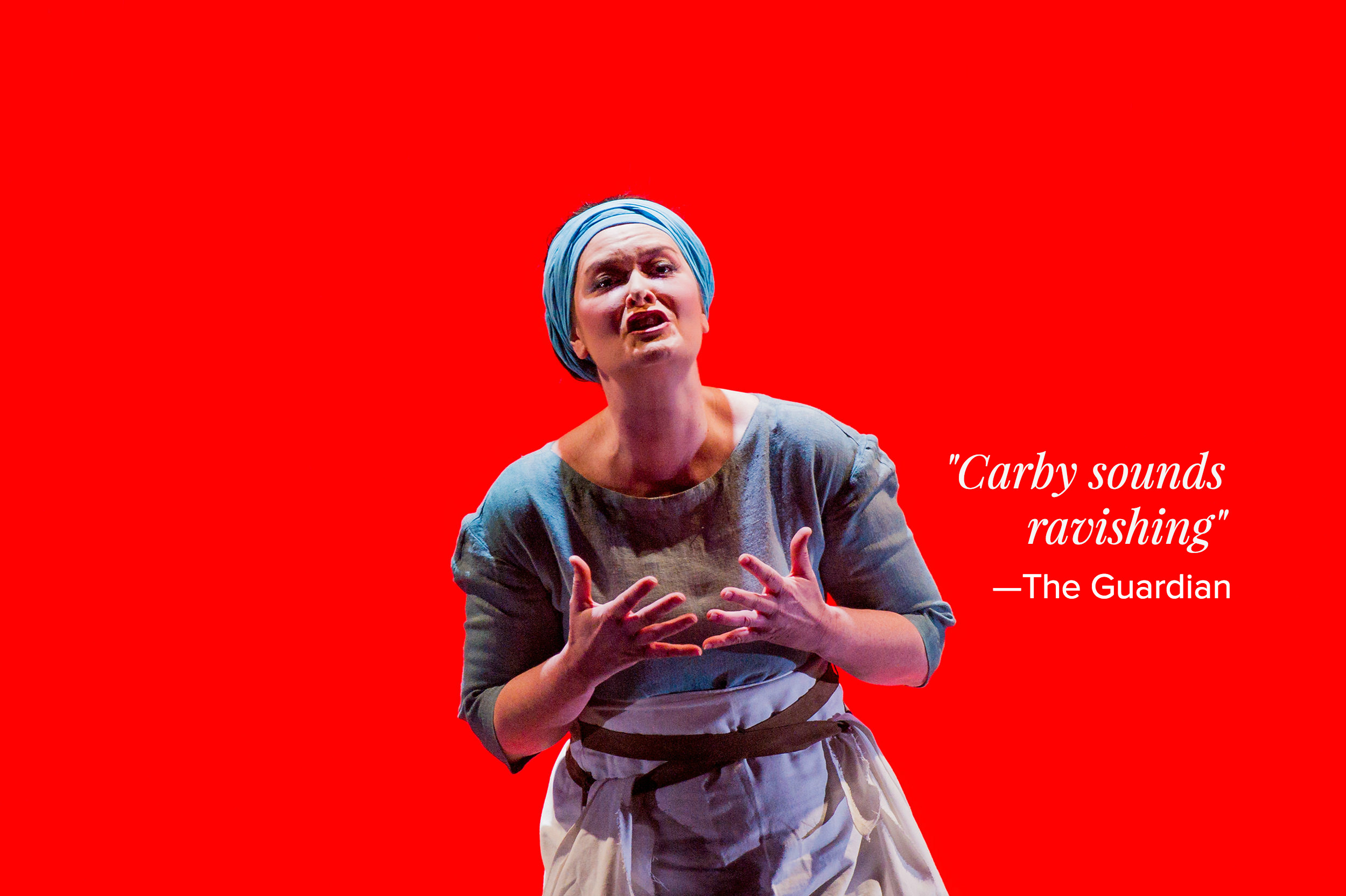 Catherine Carby sings the title role in Gluck's 1779 opera  Iphigénie en Tauride