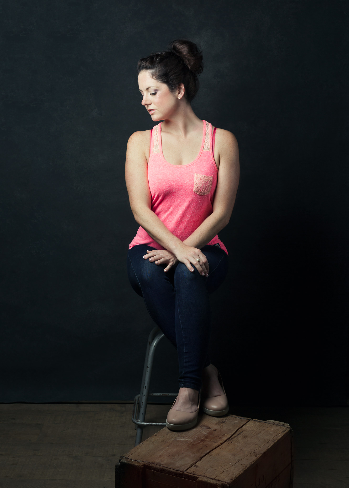 One light photographic portrait, Bath photography course