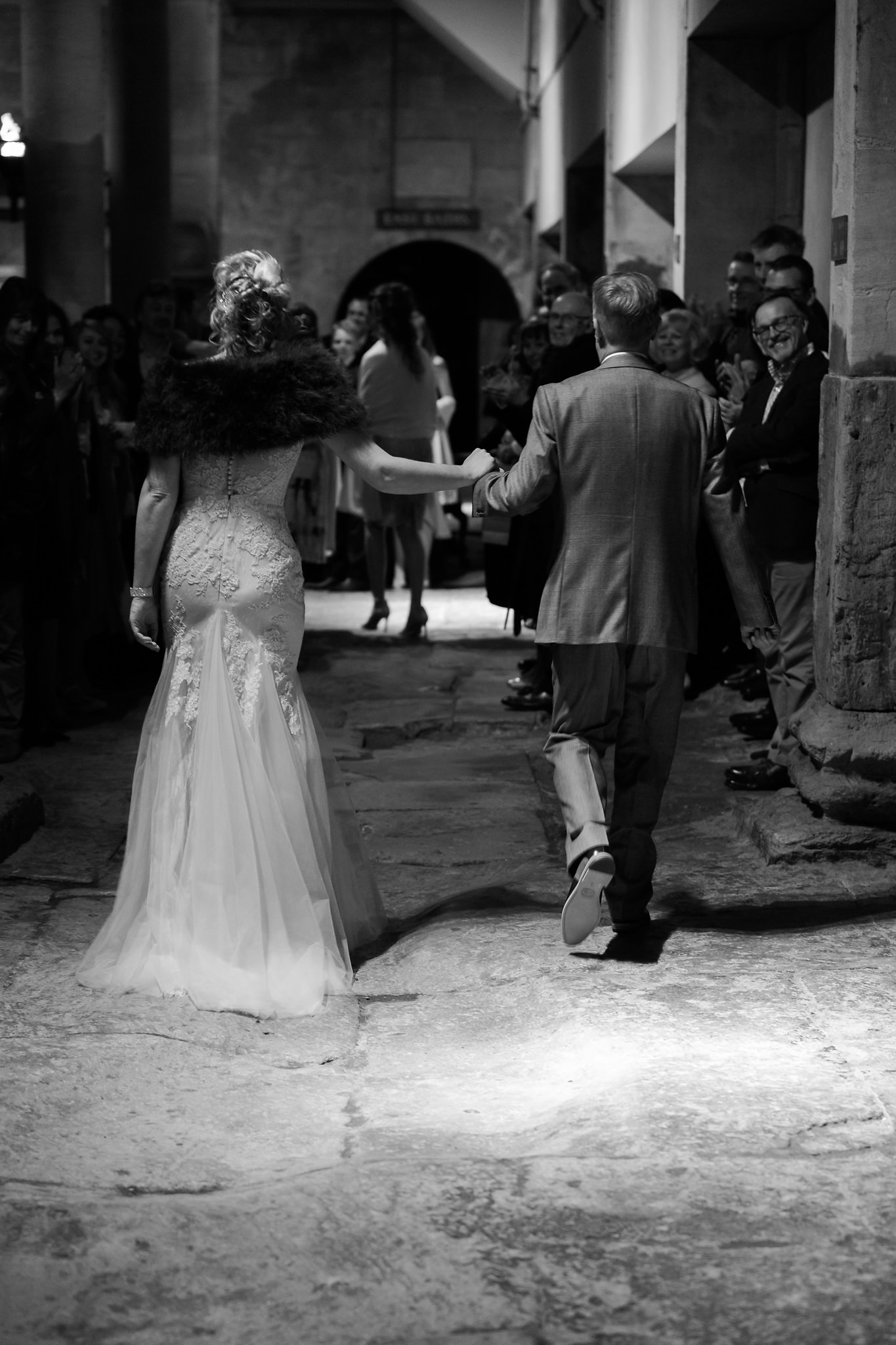 Bride and groom enter for their wedding