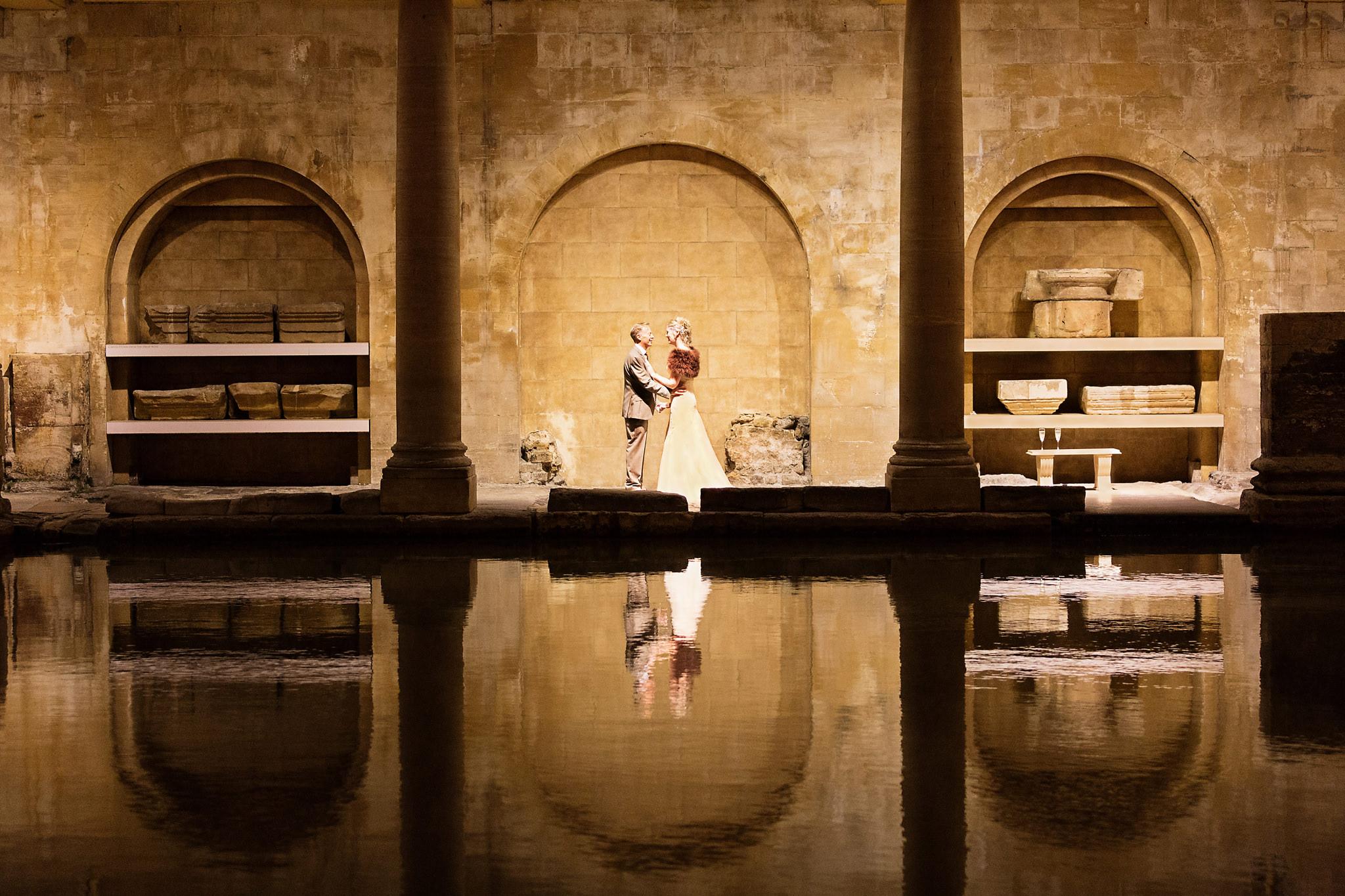 Roman Baths for wedding photography