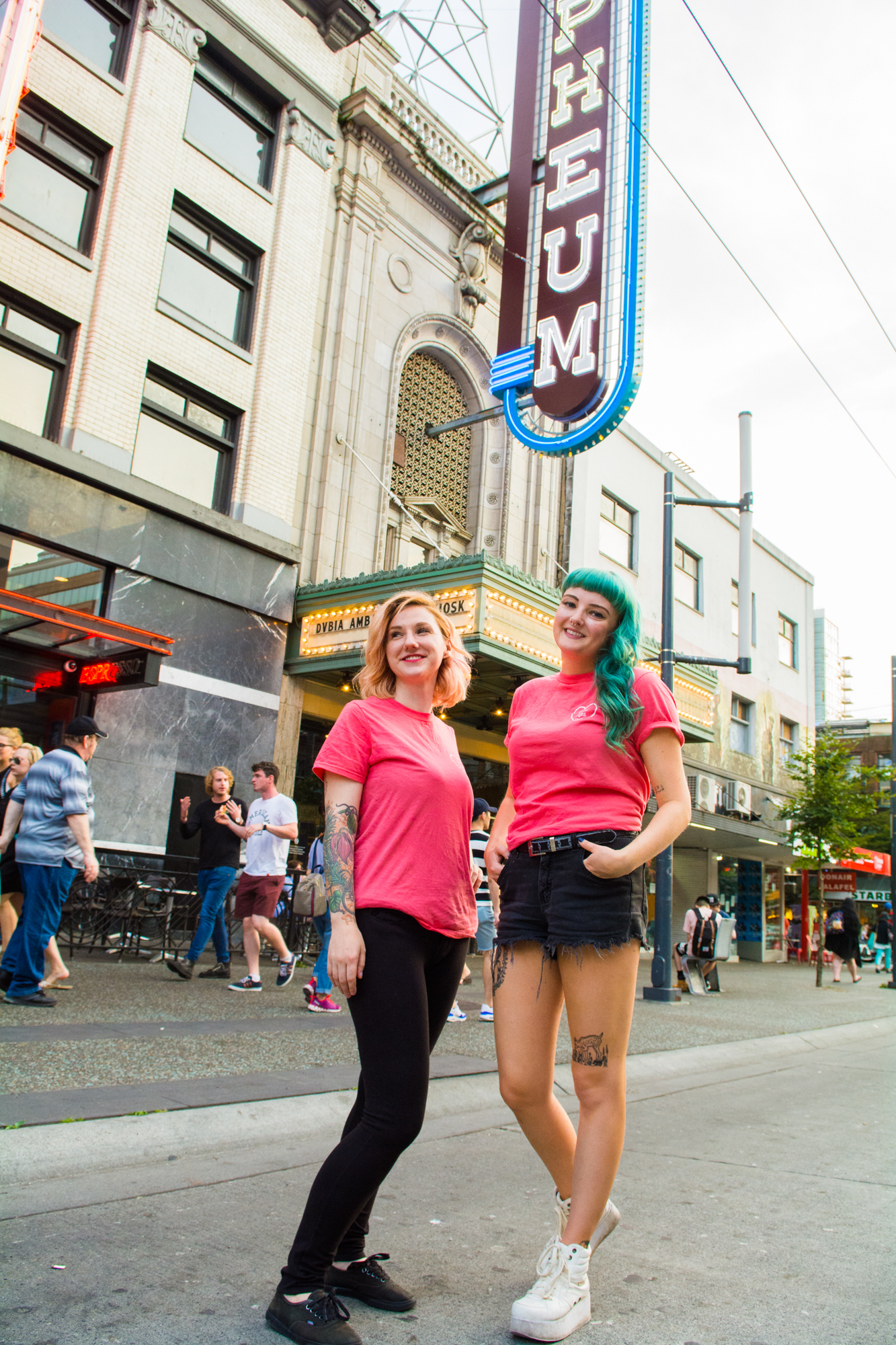 Stacey Forrester (Left) and Ashtyn Bevan (Right), Co-founders of Good Night Out Vancouver.
