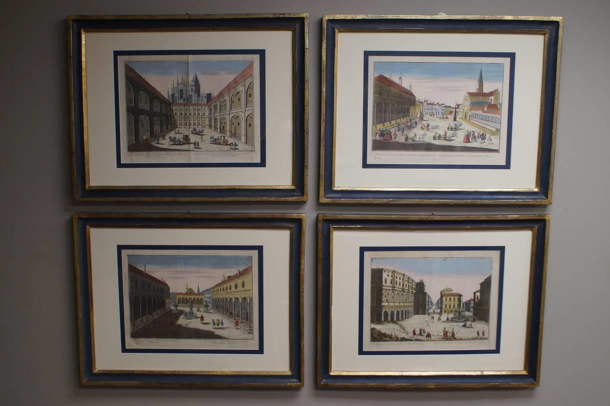 Four City Engravings