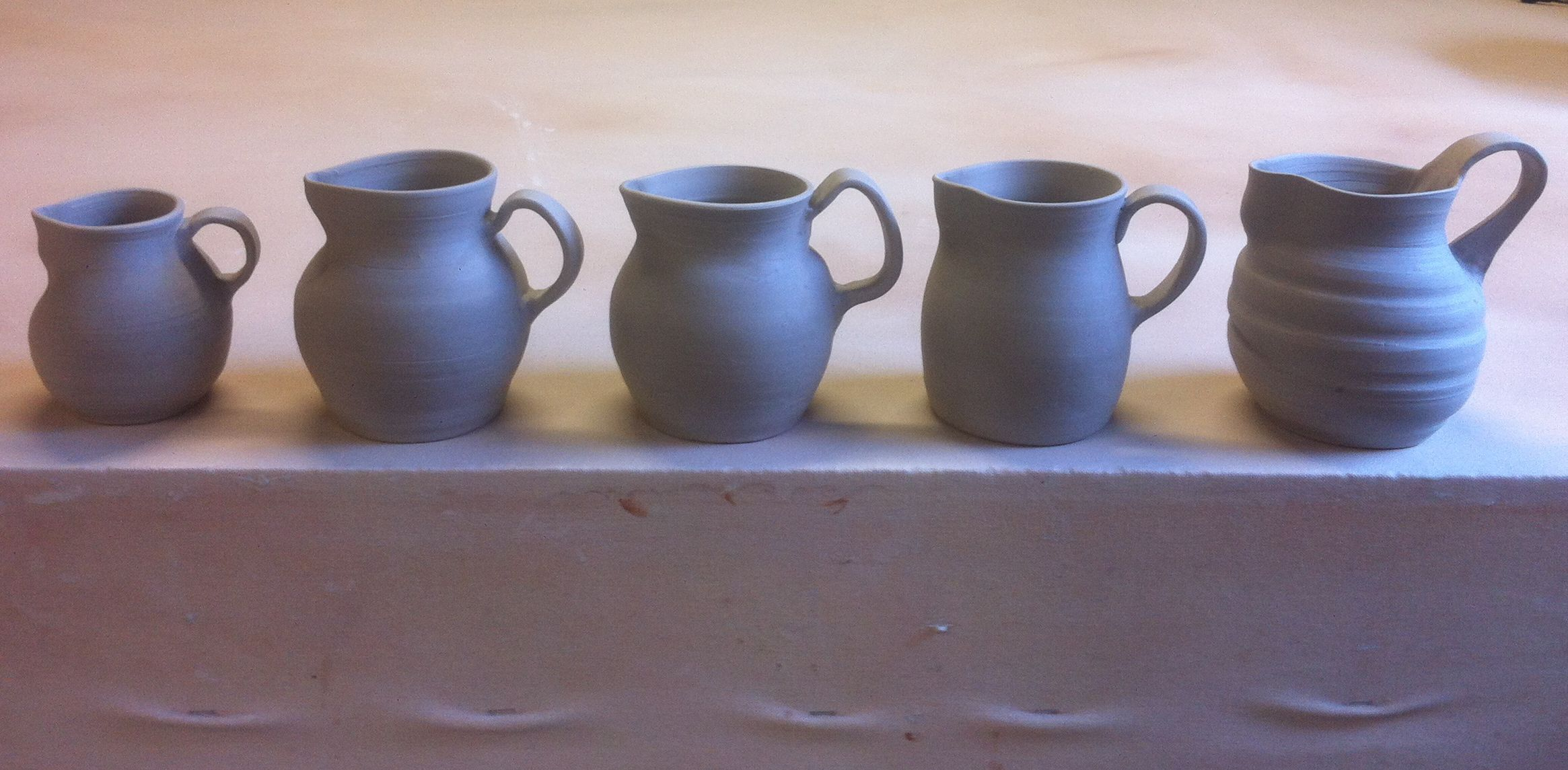greenware pitchers