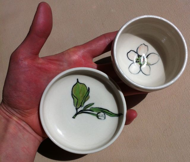 pear blossom plate and bowl