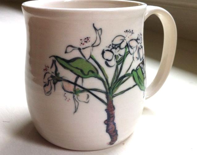large pear blossom mug
