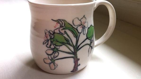small pear blossom mug