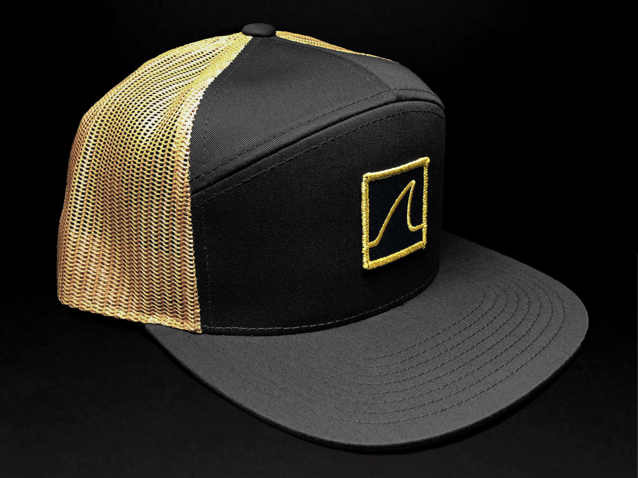 "7-Panel ""Gold Fin"" Trucker (Front)"