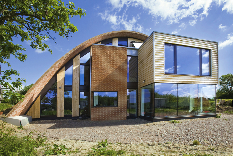 A Passive House in England, designed by architect Richard Hawkes