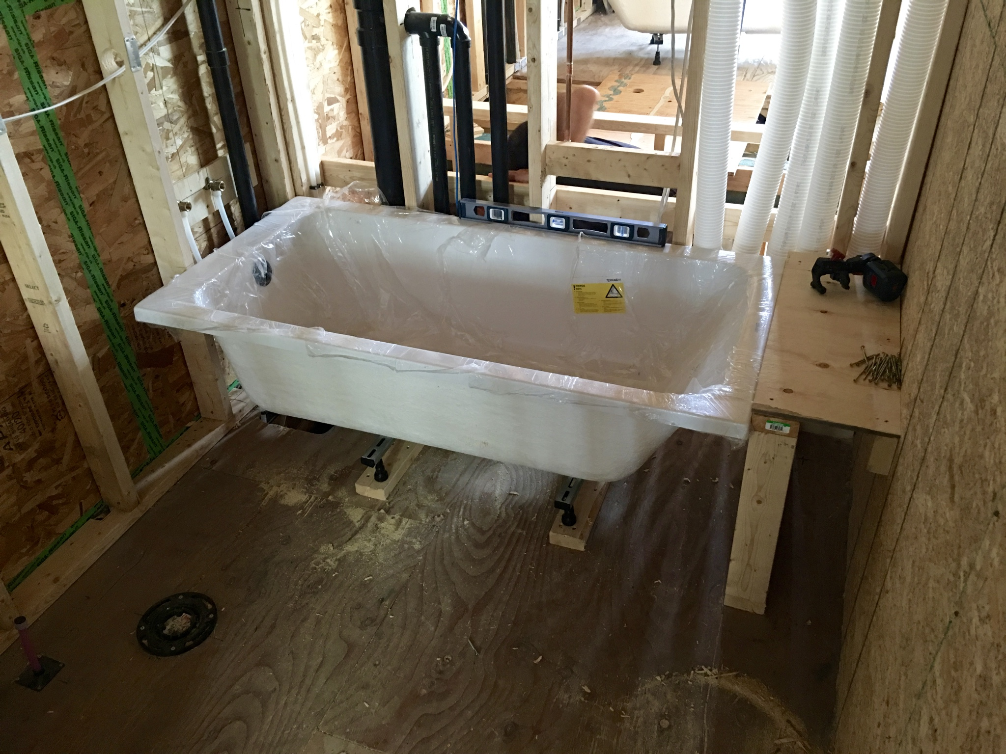 Kids bathtub (concreted added beneath the tub since this photo was taken).