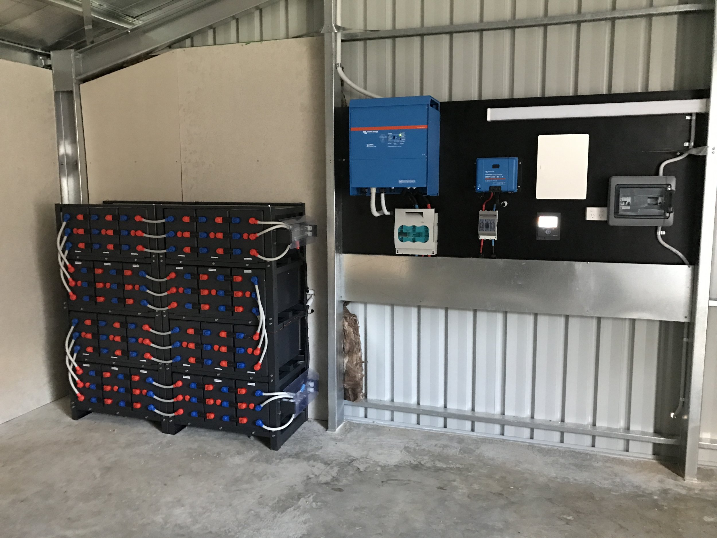 Victron Energy Off Grid System using Narada REXC 1500ah Batteries - Echunga, SA