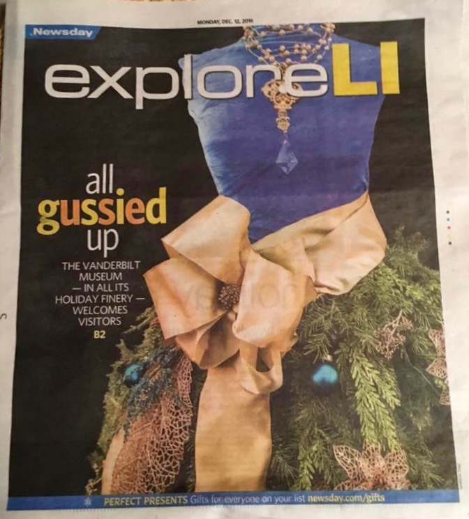 Our Christmas Dress on the Cover of Explore LI Section of Newsday .