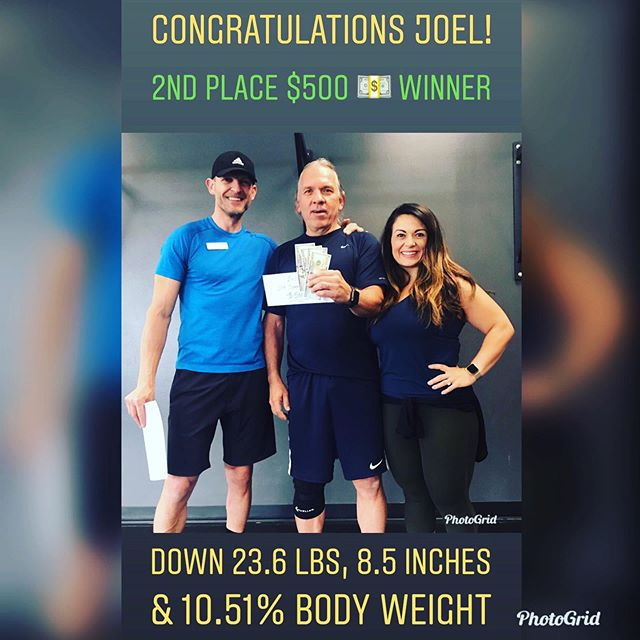 🏆 Congratulations Joel 🏆  Did you know he and his wife Cecilia attended sessions at 5 AM through the entire Challenge?! They were the early risers and set the tone for our training days.  Joel dropped sweat 💦 beads and at times gave looks that said a thousand words about how the sessions were cooking.  His hard work paid off as he claims our 2nd Place 🏅 Prize of $500 💵. Down 23.6 lbs, 8.5 total inches & 10.51% Body Weight.  Let's hear it for Joel!  #freedomfitnessbootcamp #sandyutah #sandycity #transformationchallenge #riseup