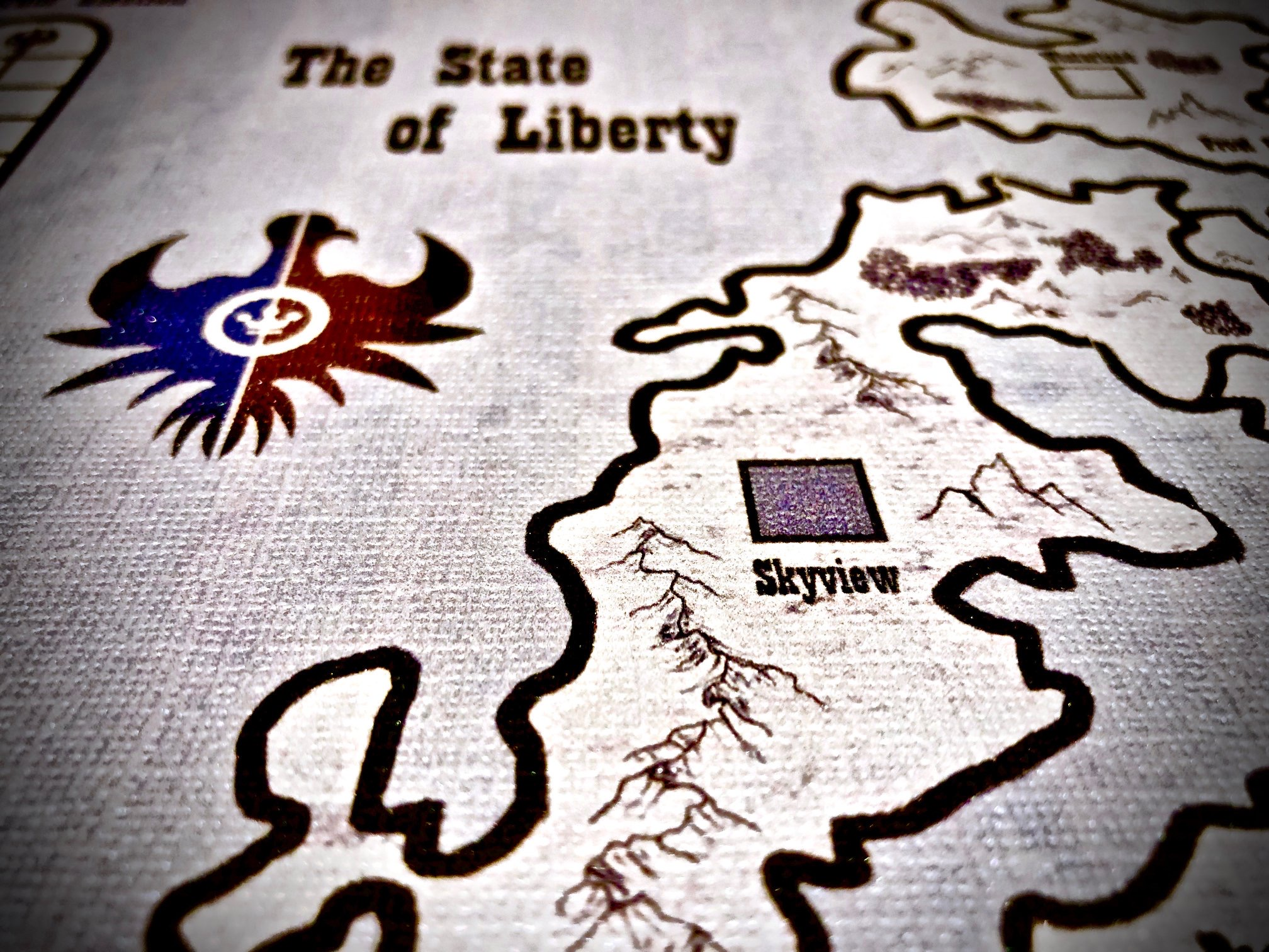 The State of Liberty , Game Board Closeup