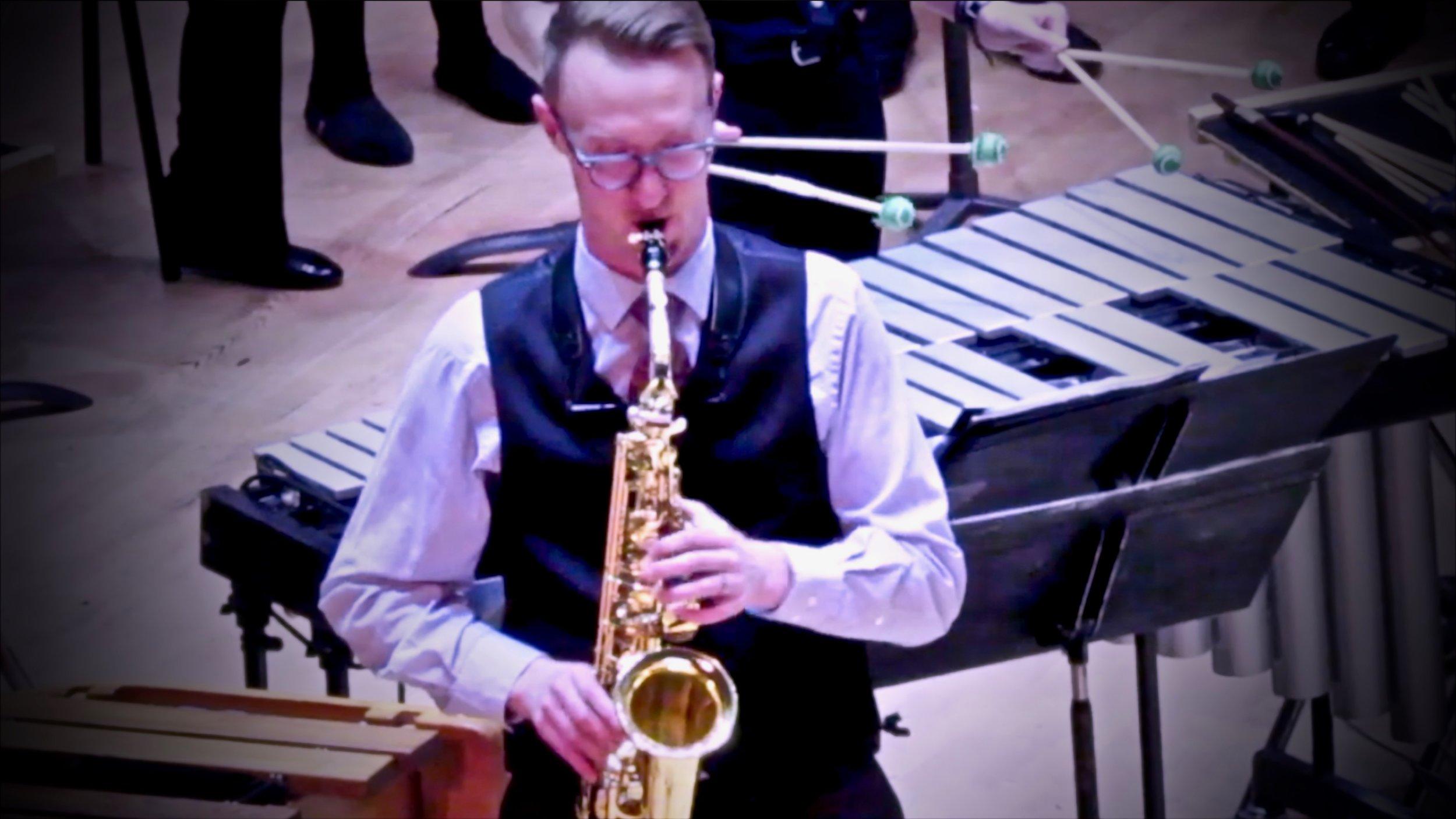 Drew Whiting: alto saxophone soloist