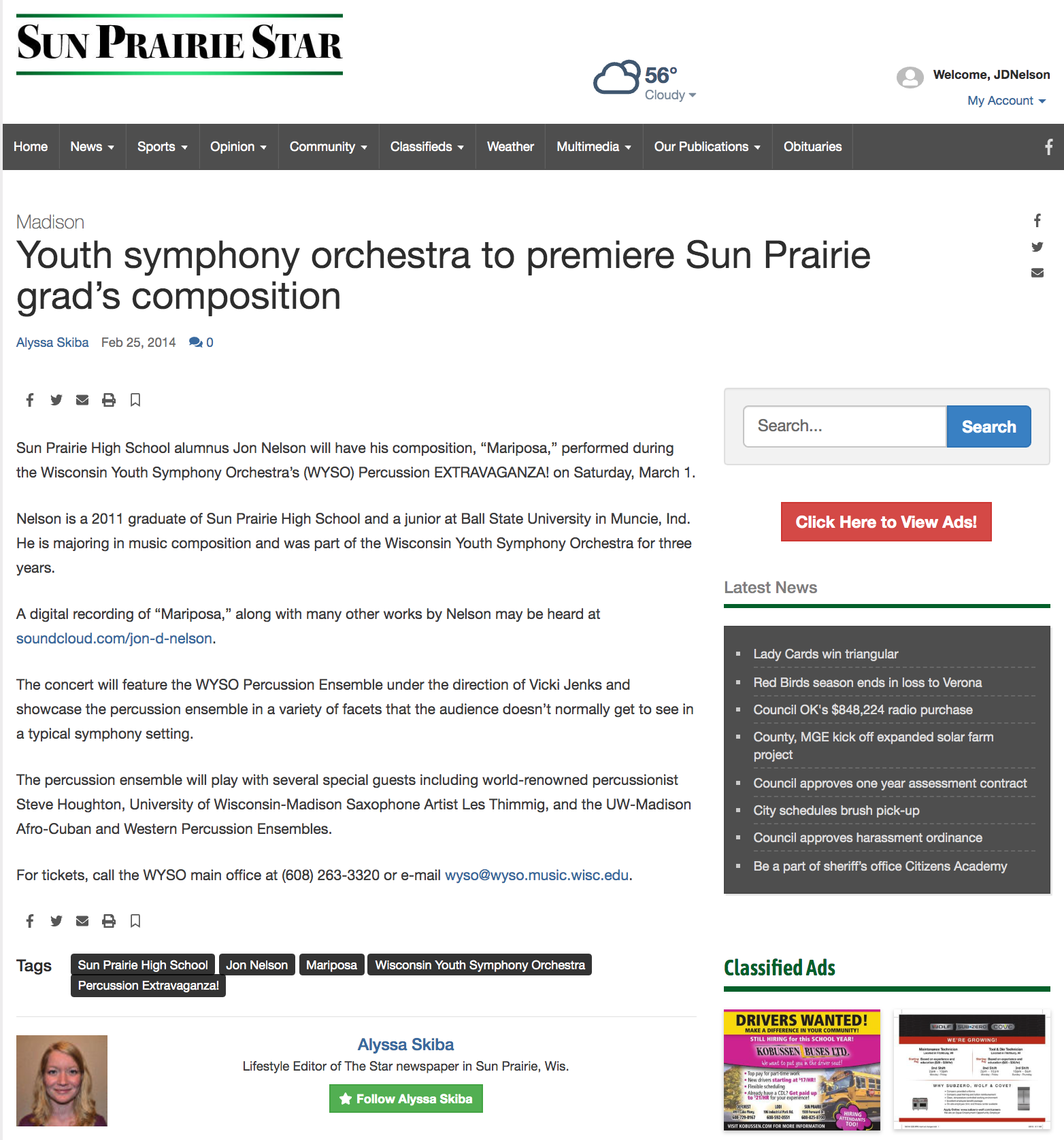 View Original Article Online:  http://www.hngnews.com/sun_prairie_star/community/features/article_801d260c-9e34-11e3-ad1a-001a4bcf6878.html