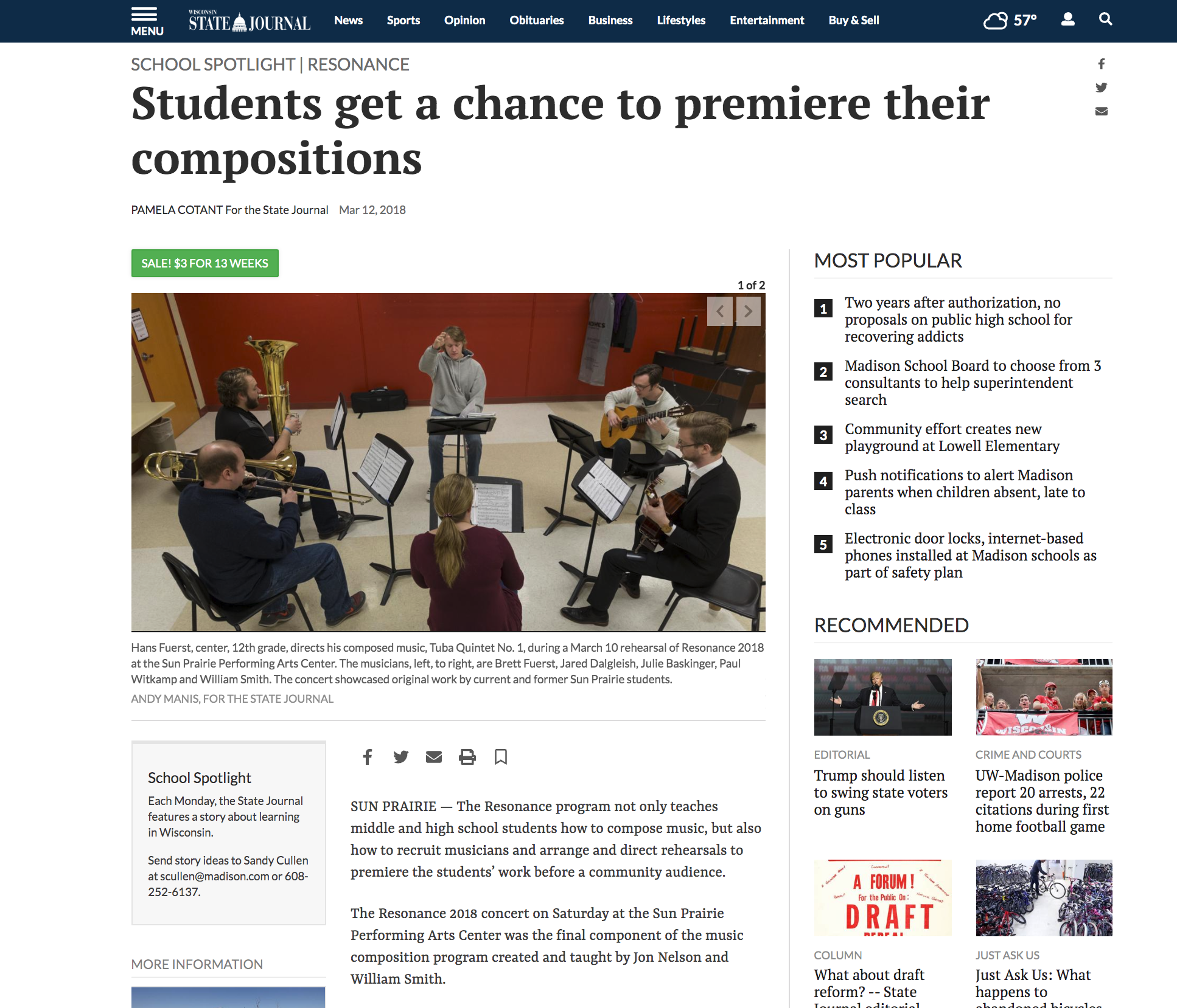 View Original Articale Online:  https://madison.com/wsj/news/local/education/local_schools/students-get-a-chance-to-premiere-their-compositions/article_3fa16a10-77ba-562b-ba6a-1ba970b389ef.html