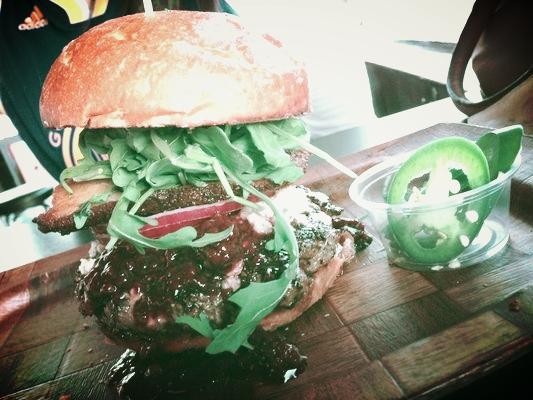 Scolari's famous blackberry/blue/bacon burger!