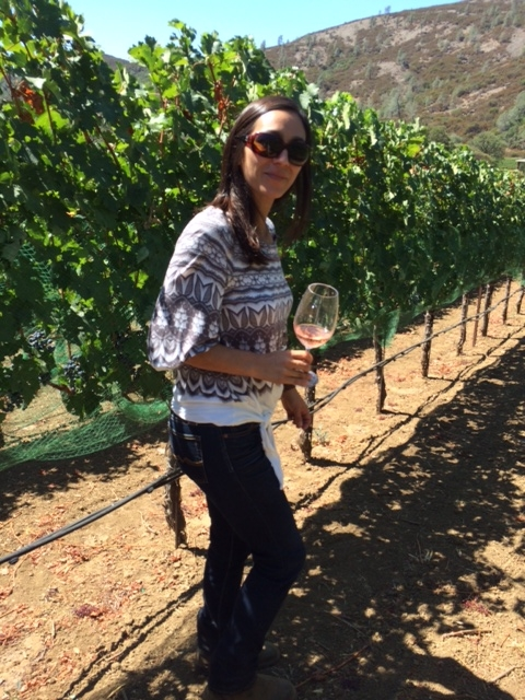 Casey Flat Ranch winemaker Laura Barrett on the vineyard (photo by CCA)