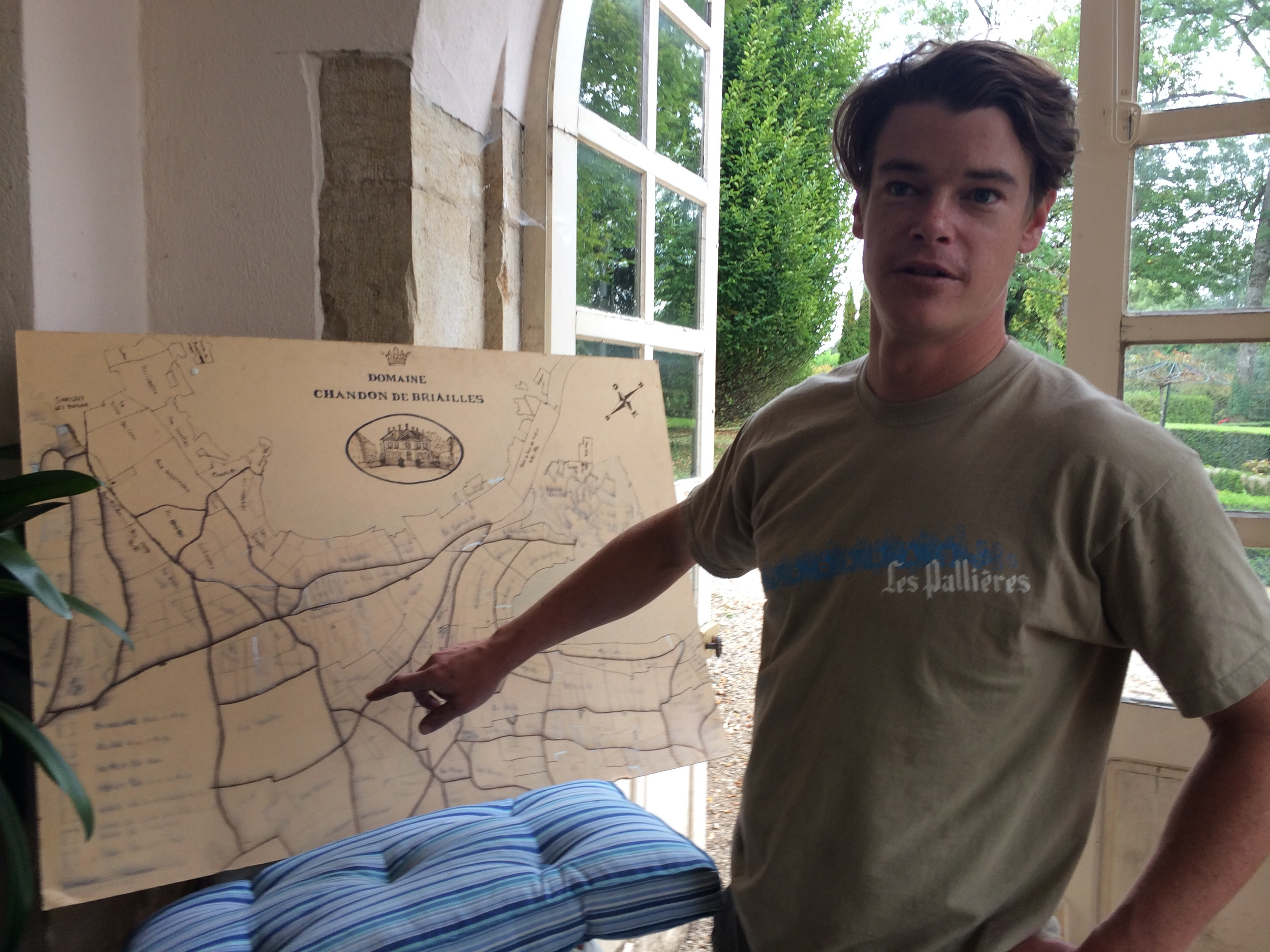 Getting schooled on the Domaine's parcels