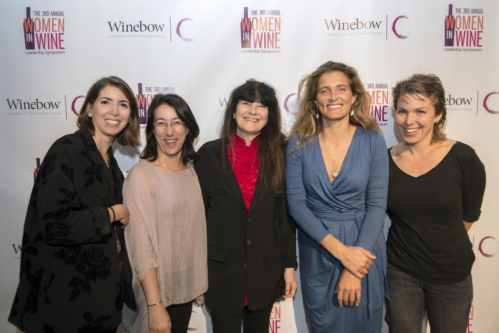 From left to right: Valentina Argiolas, Argiolas; Maria Pica, Portugal Ramos Family Estates; Ruth Reichl; Izabella Zwack, Dobogó; Autumn Stoscheck, Eve's Cidery