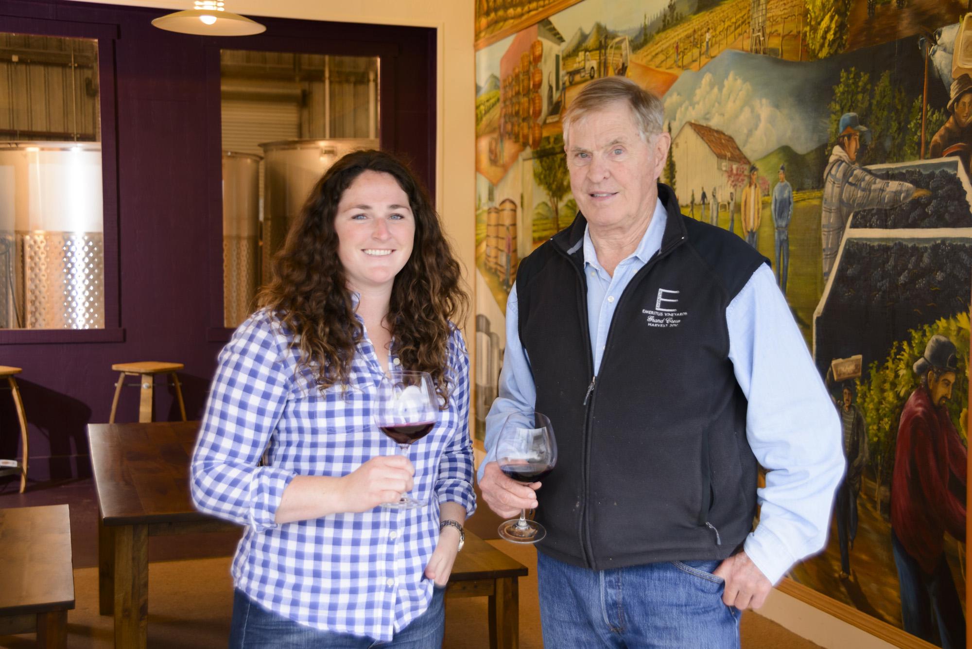 Mari and Brice at the Winery